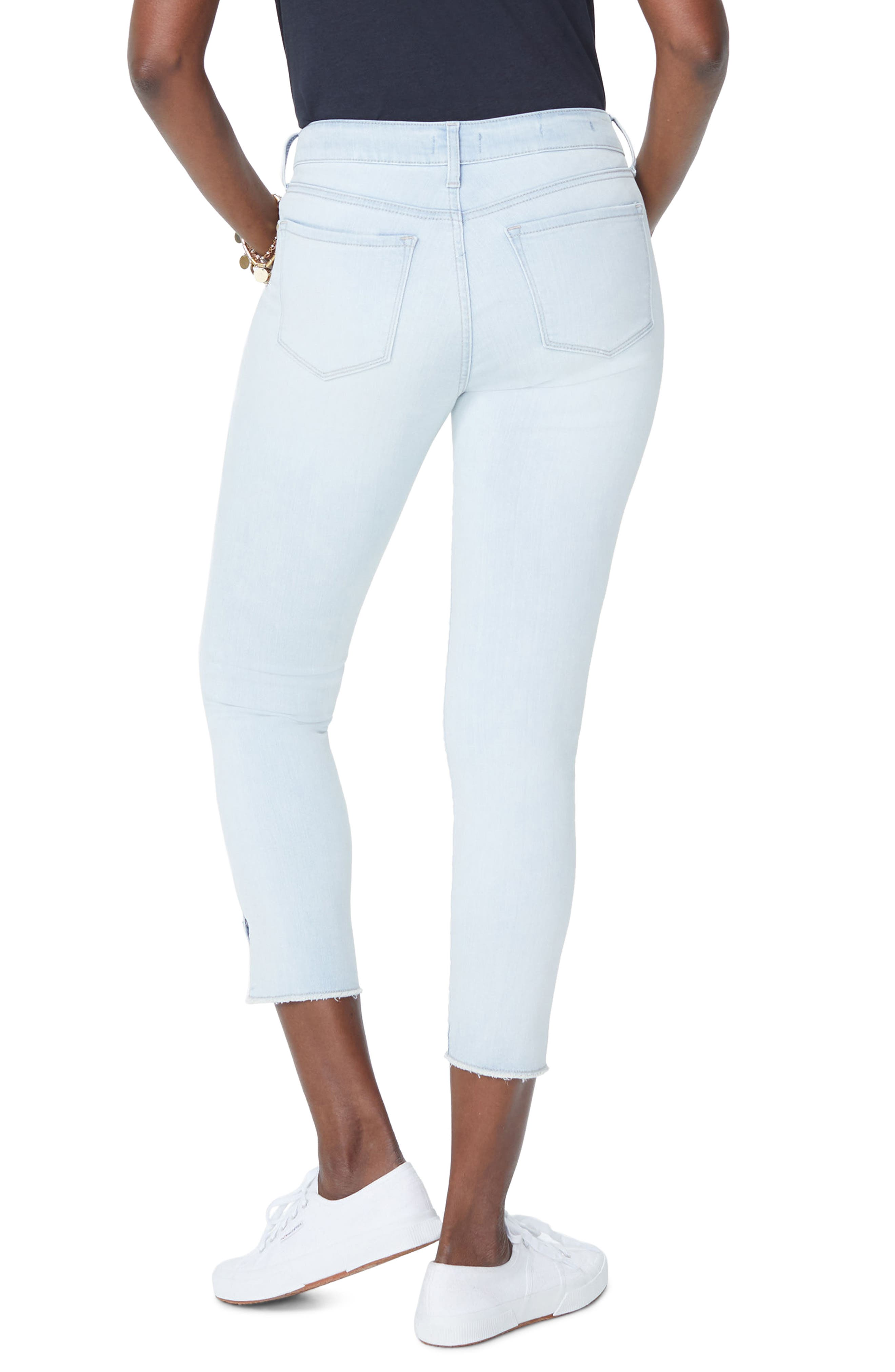 Ami High Waist Twist Seam Stretch Ankle Skinny Jeans,                             Alternate thumbnail 2, color,                             PALM DESERT