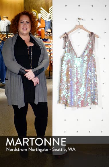 Penelope Glitter Disc Sequin Swing Dress, sales video thumbnail
