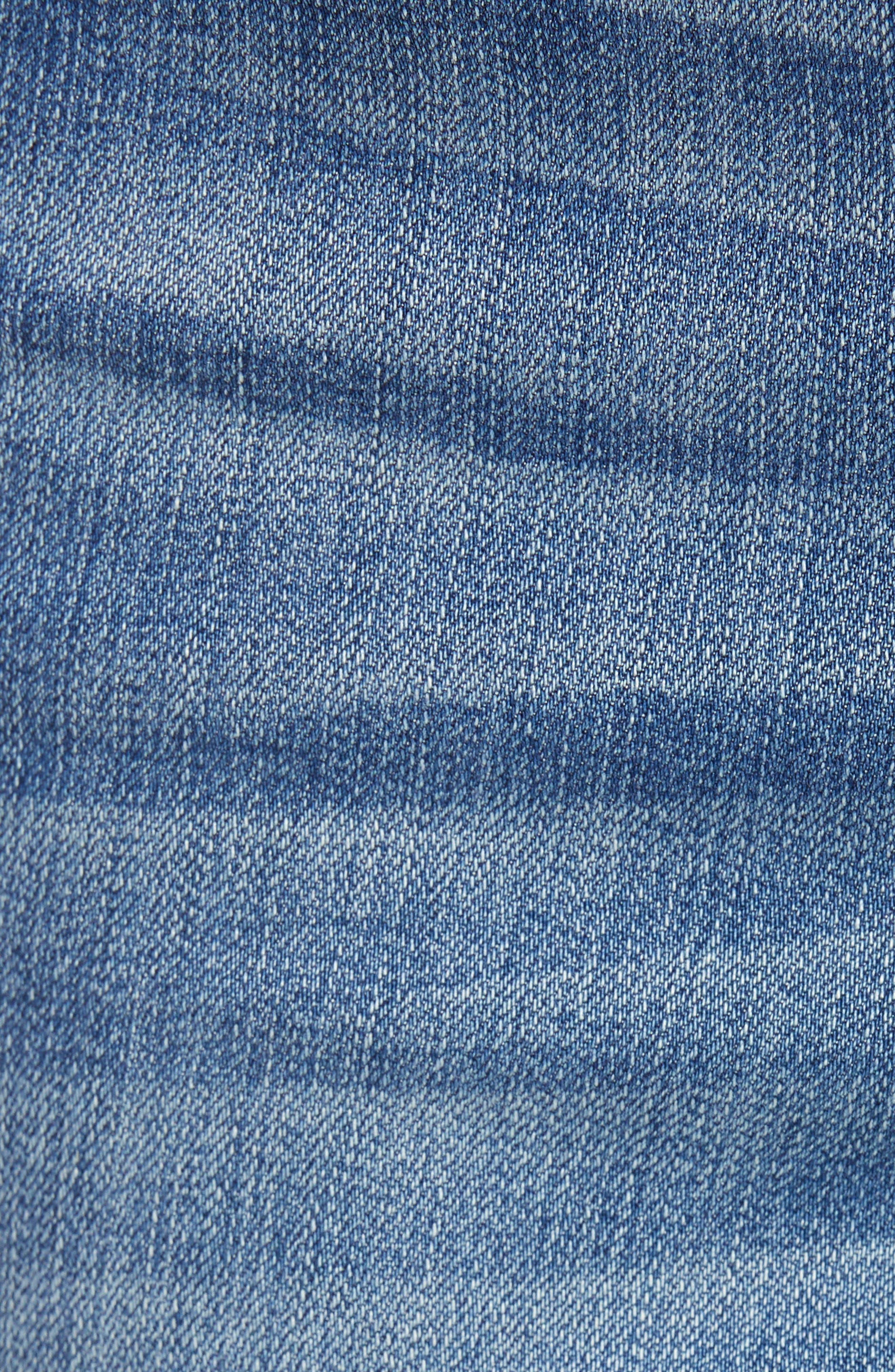 Ankle Straight Leg Jeans,                             Alternate thumbnail 6, color,                             KORN LIGHT WASH