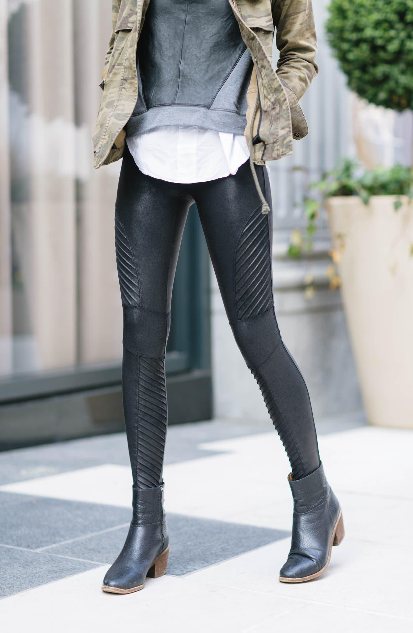 33192995c7a2 SPANX® Faux Leather Moto Leggings