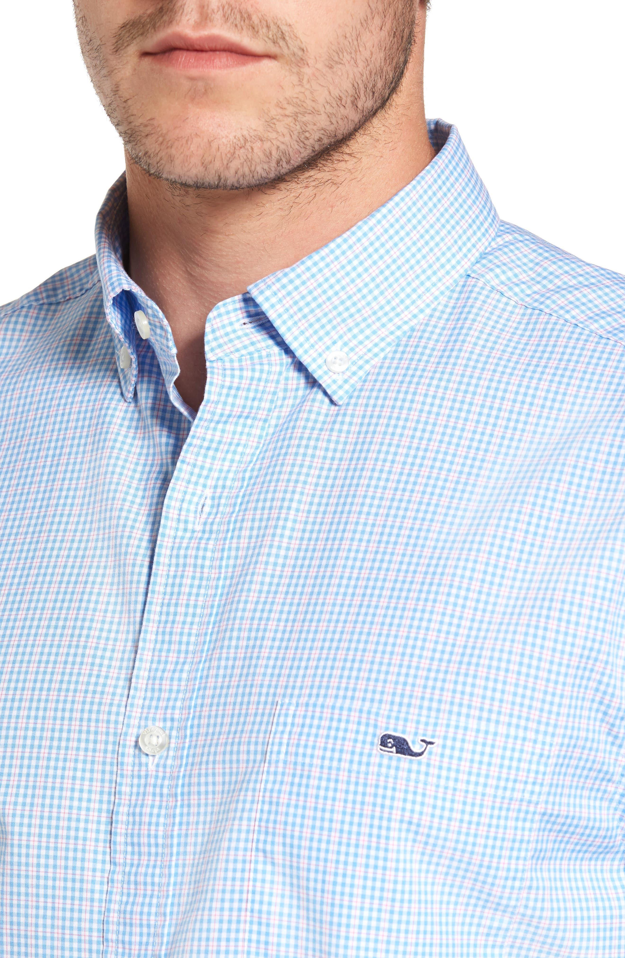 Stowaway Plaid Tucker Classic Fit Sport Shirt,                             Alternate thumbnail 4, color,                             484