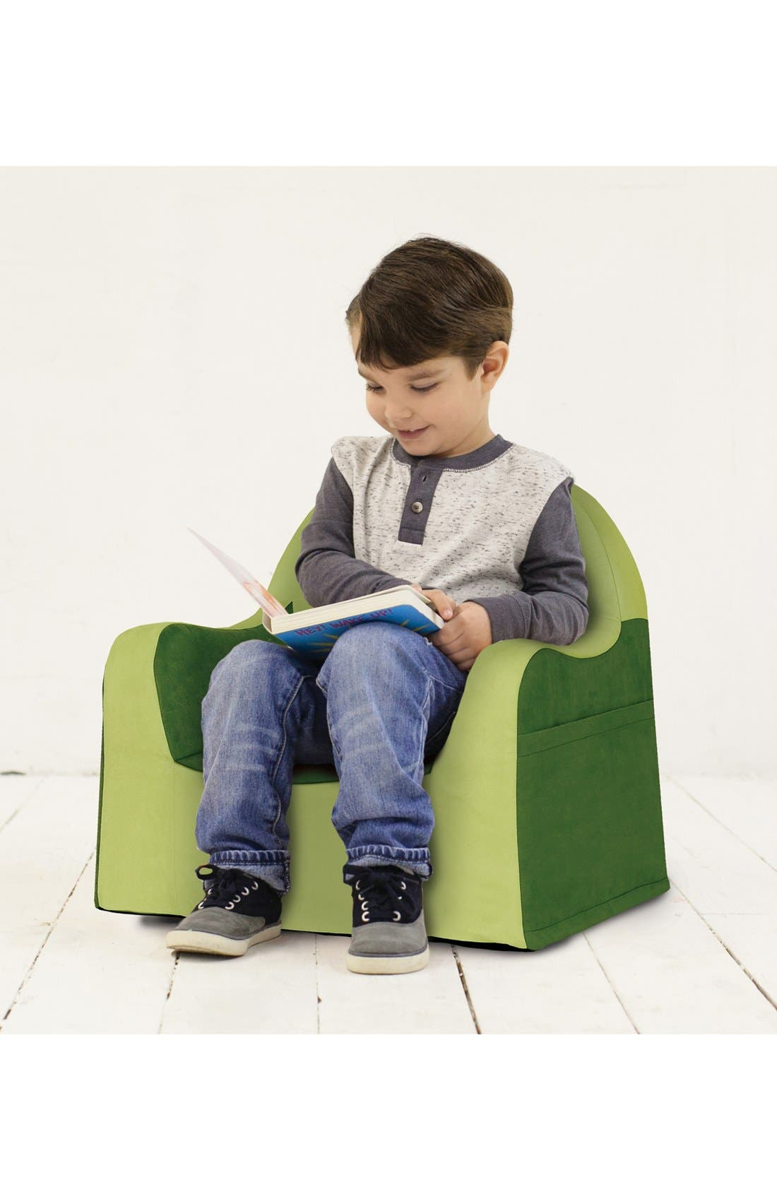 'Personalized Little Reader' Chair,                             Alternate thumbnail 2, color,                             GREEN