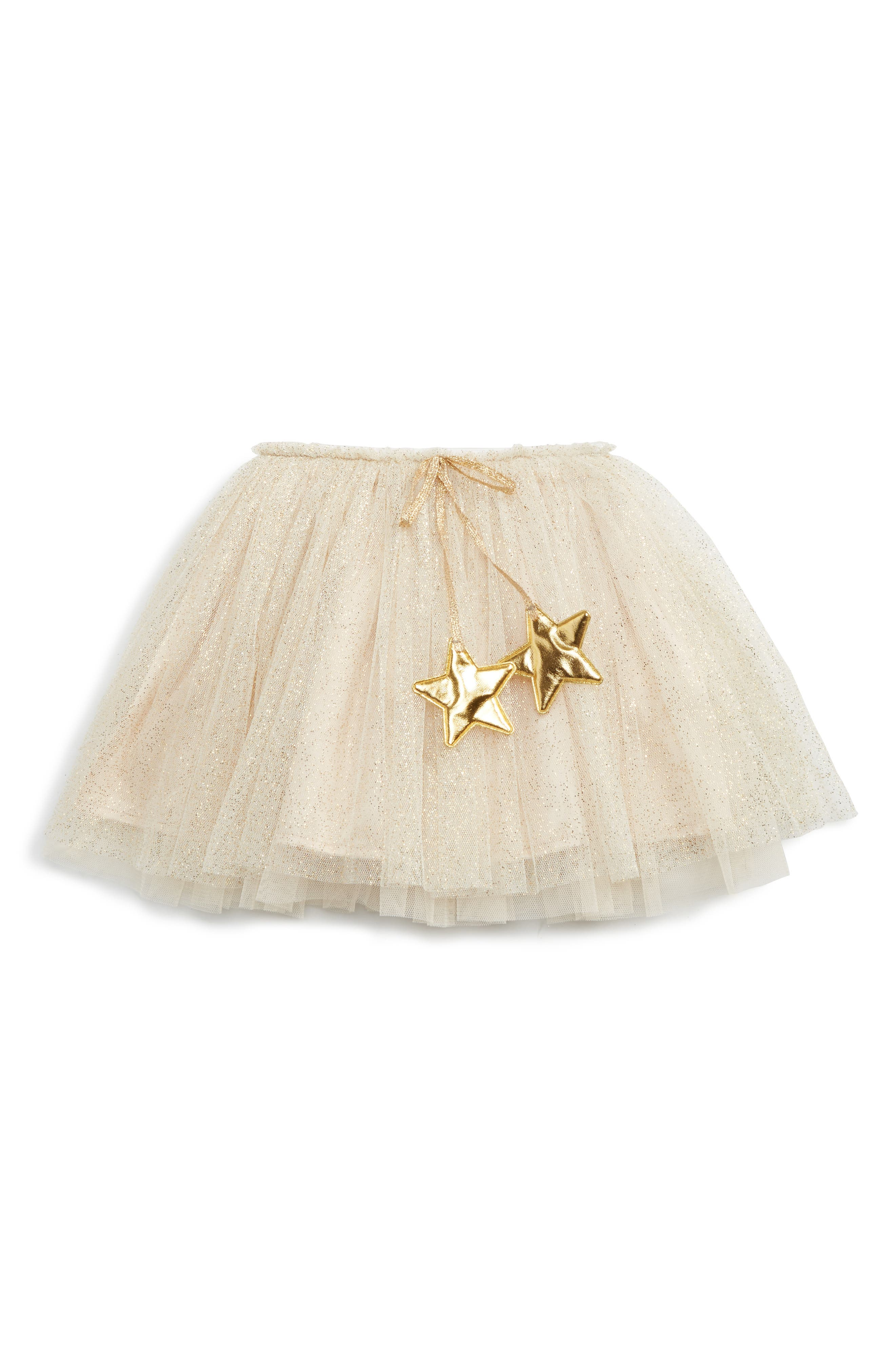 Gold Glitter Star Tutu,                             Alternate thumbnail 2, color,                             GOLD
