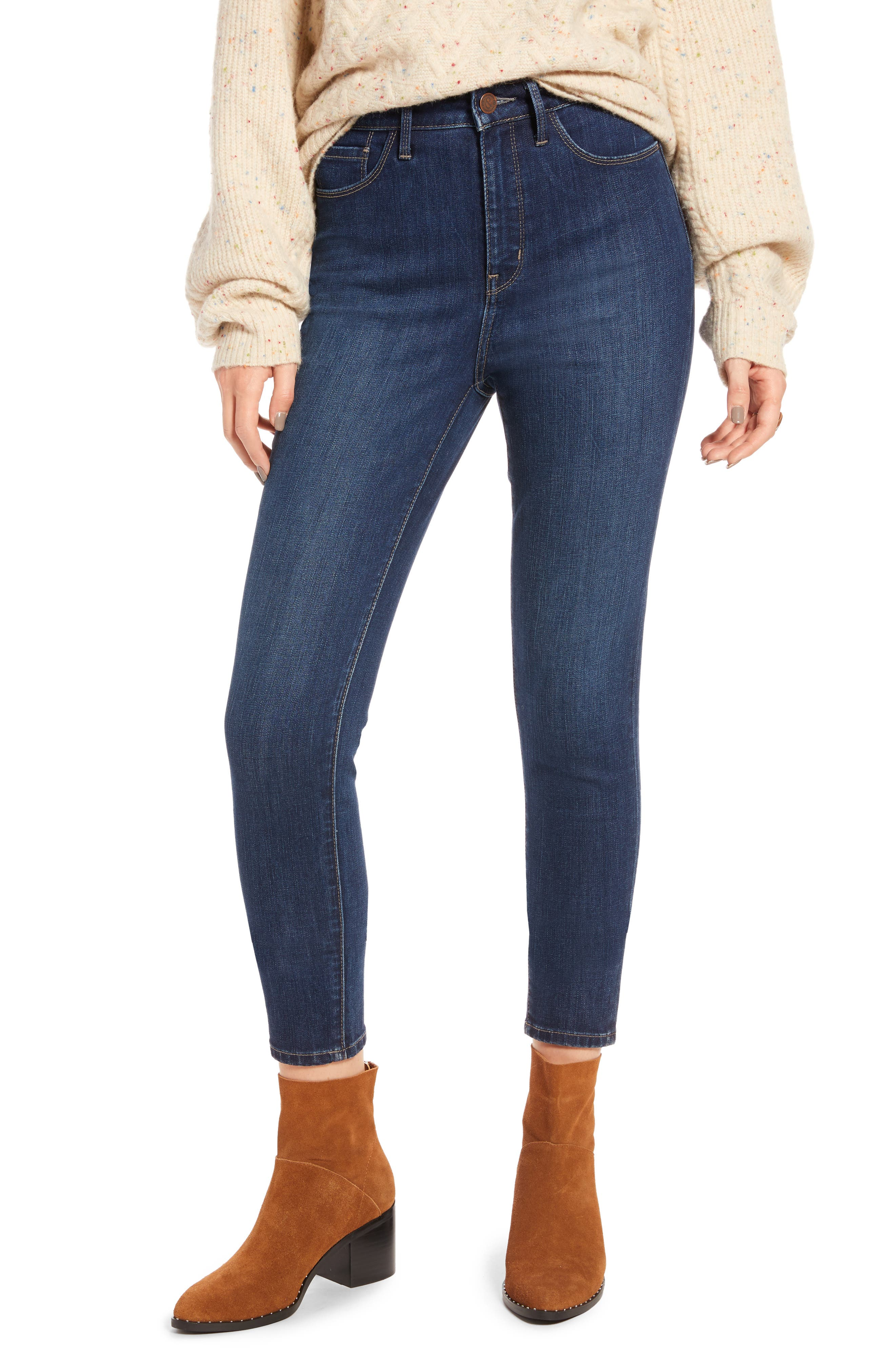 Charity High Waist Ankle Skinny Jeans,                             Main thumbnail 1, color,                             401