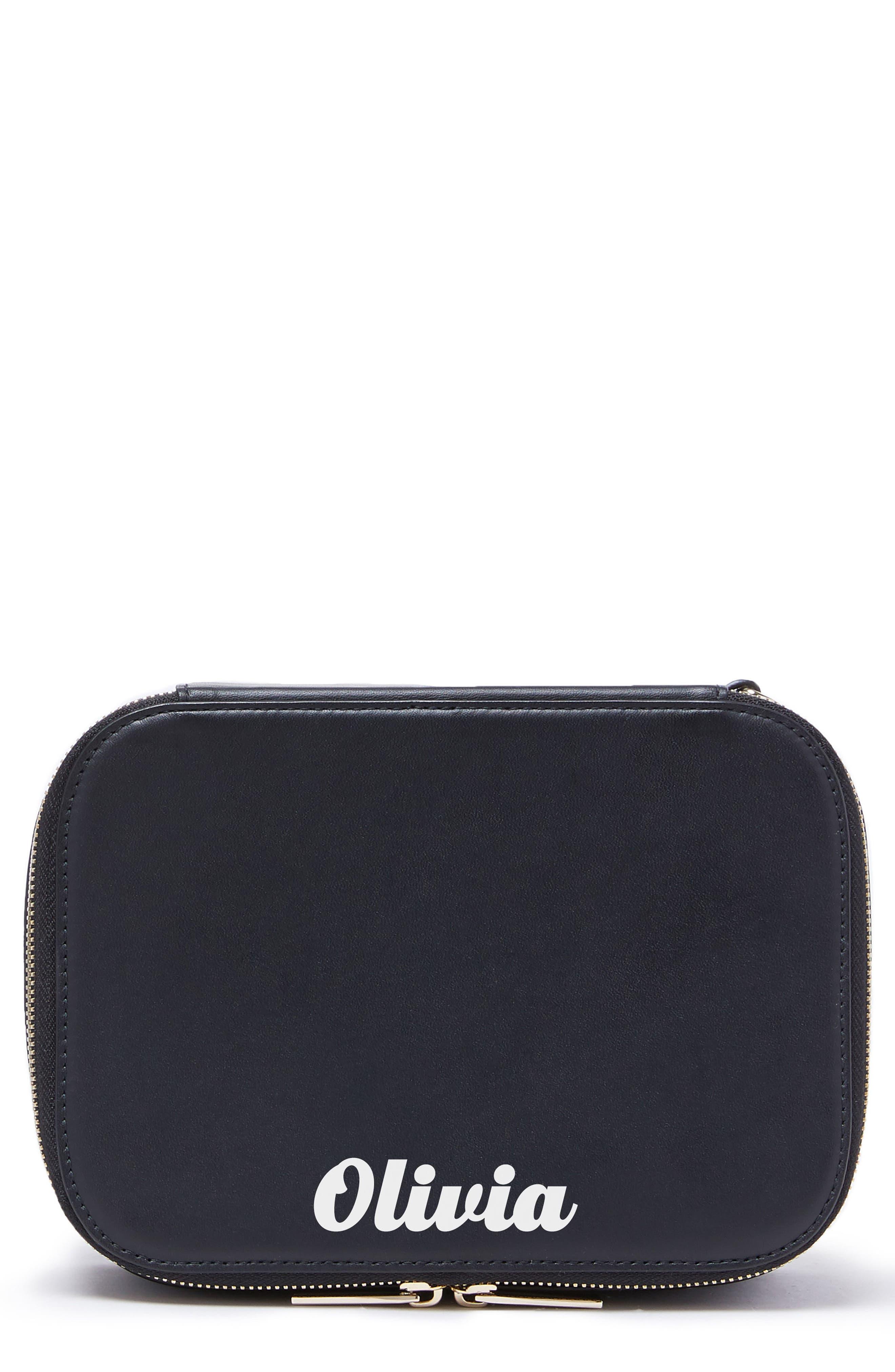 Bigger Personalized Makeup Bag,                             Main thumbnail 1, color,                             001