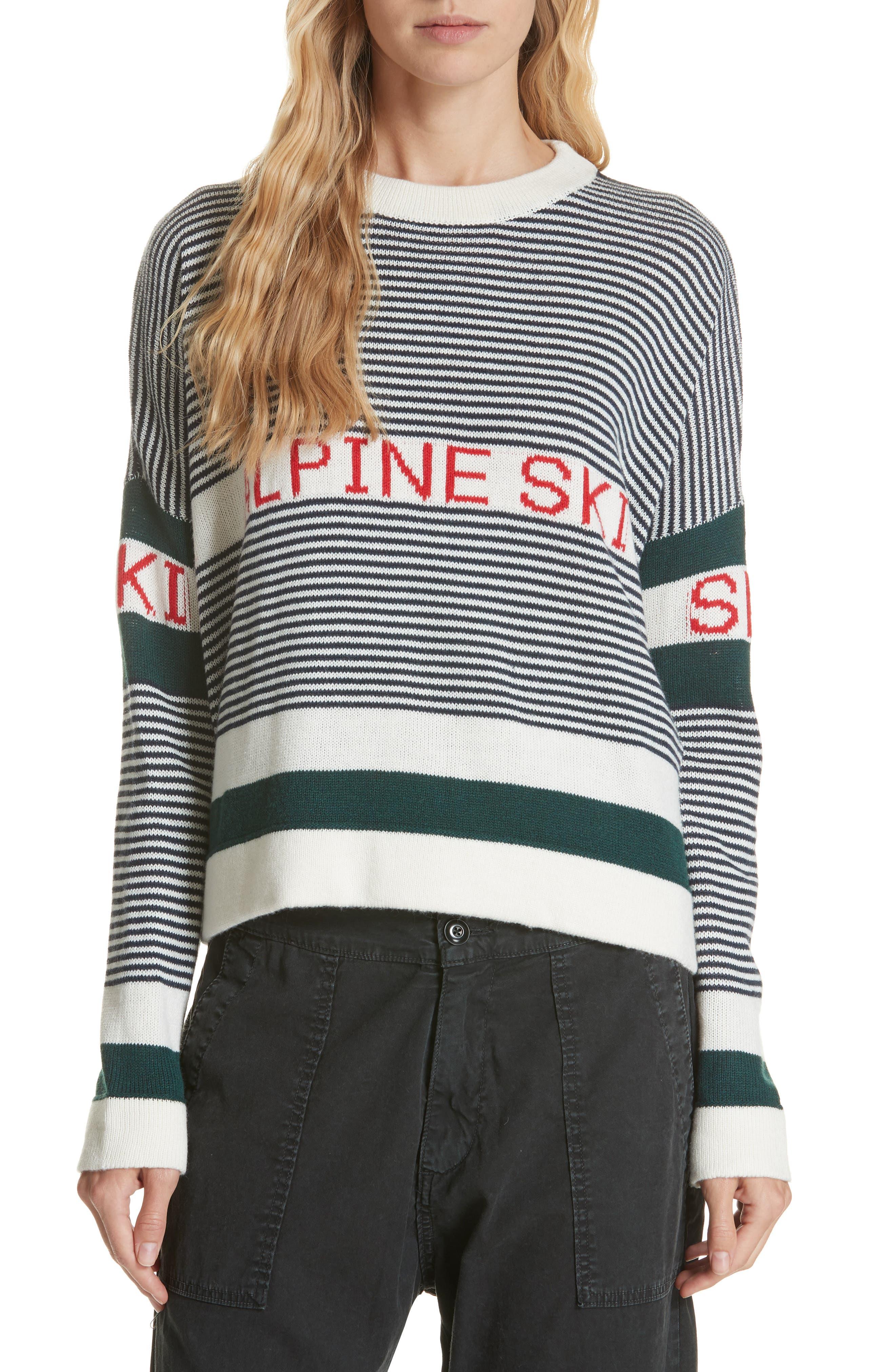 Alpine Ski Sweater,                         Main,                         color, MULTI STRIPE