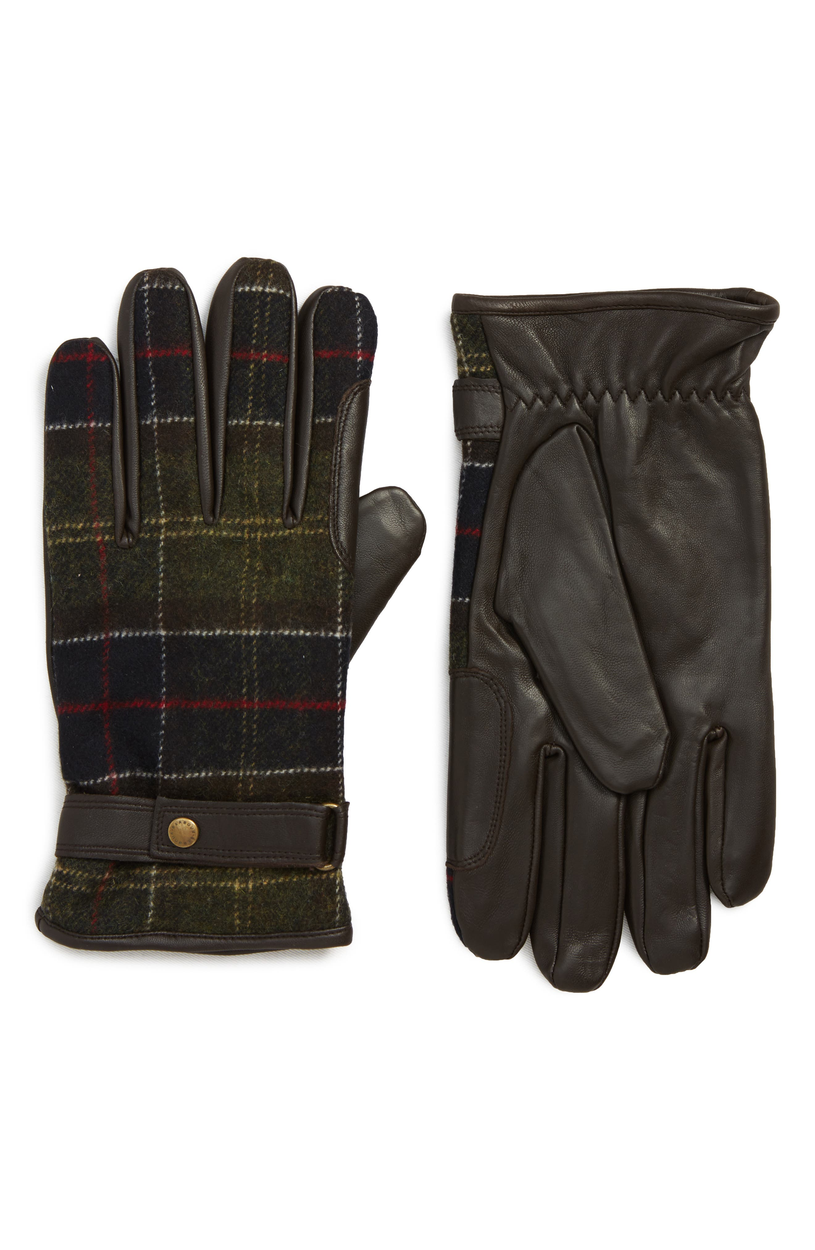 Barbour Newbrough Gloves, Brown