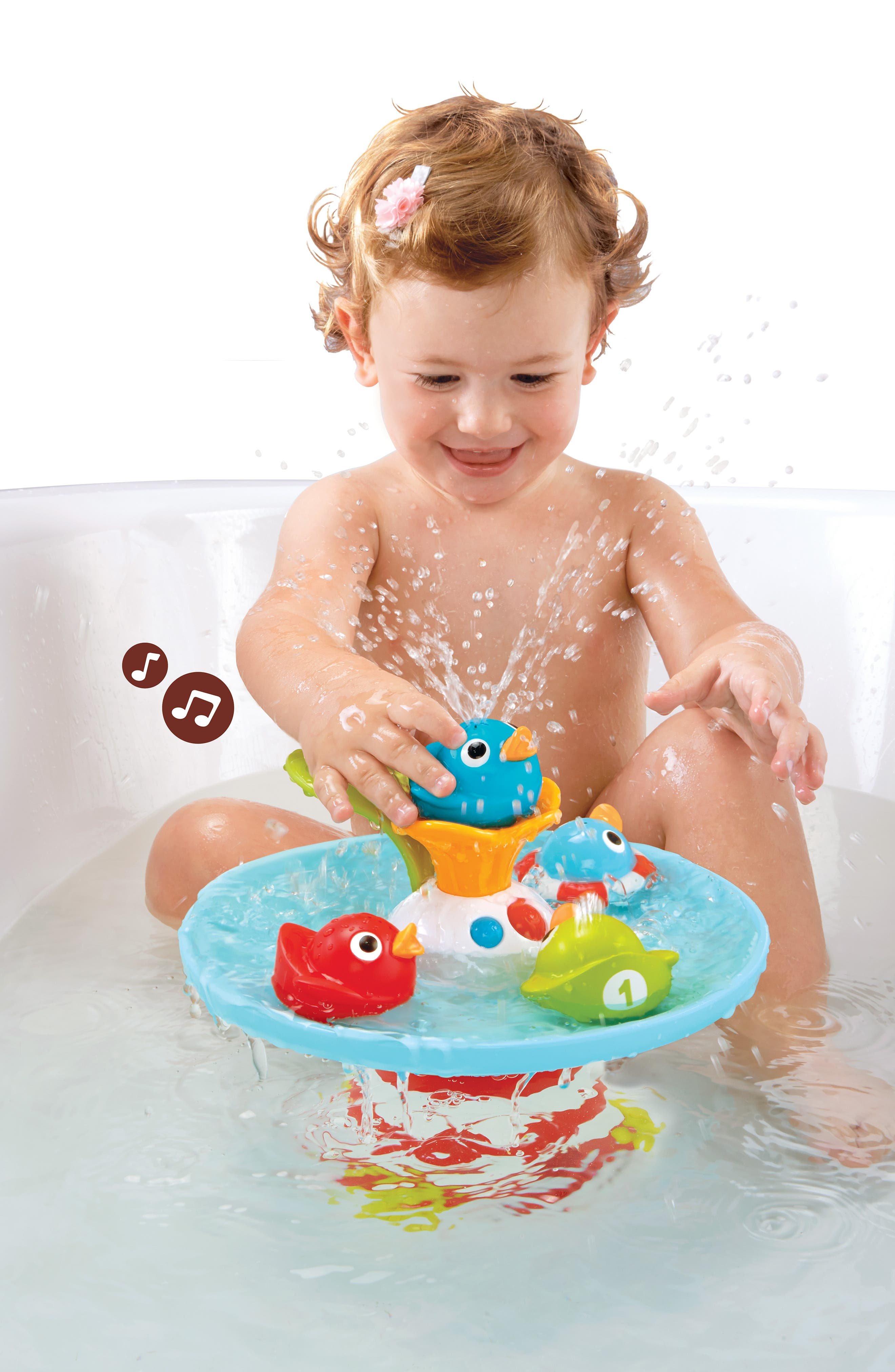 Musical Duck Race Bath Toy,                             Alternate thumbnail 9, color,                             RED