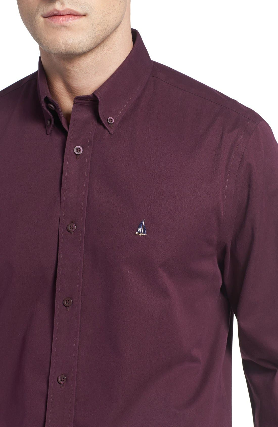 Smartcare<sup>™</sup> Traditional Fit Twill Boat Shirt,                             Alternate thumbnail 131, color,