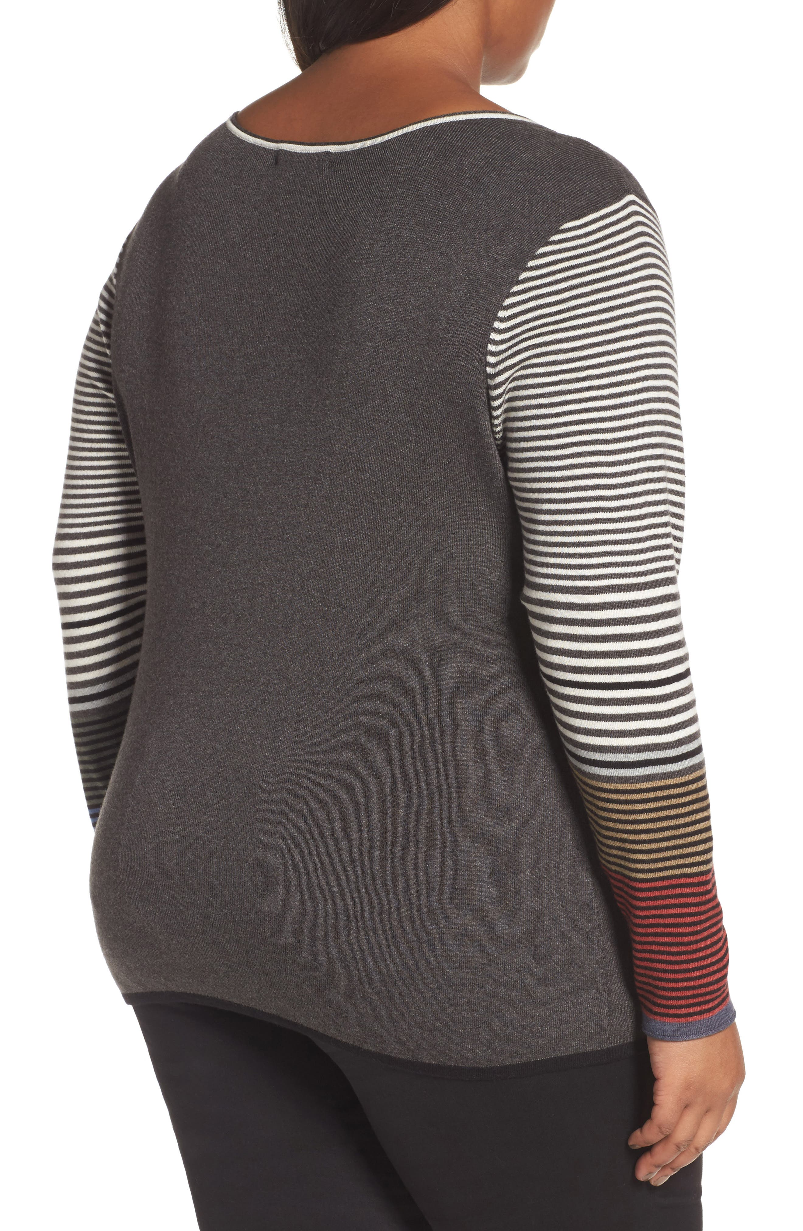 Metro Stripe Sweater,                             Alternate thumbnail 2, color,                             020
