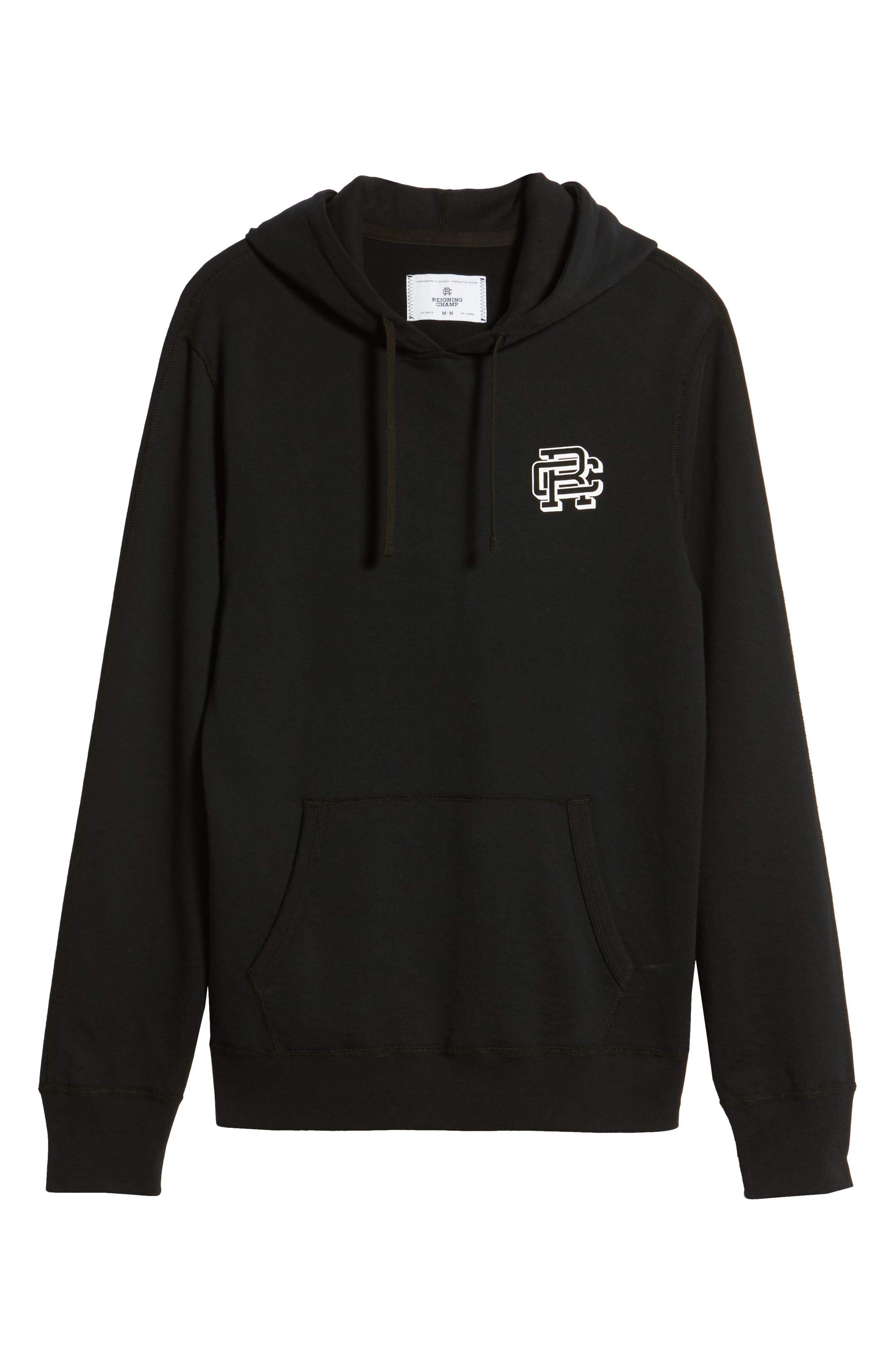Classic Fit Hooded Pullover,                             Alternate thumbnail 6, color,                             BLACK