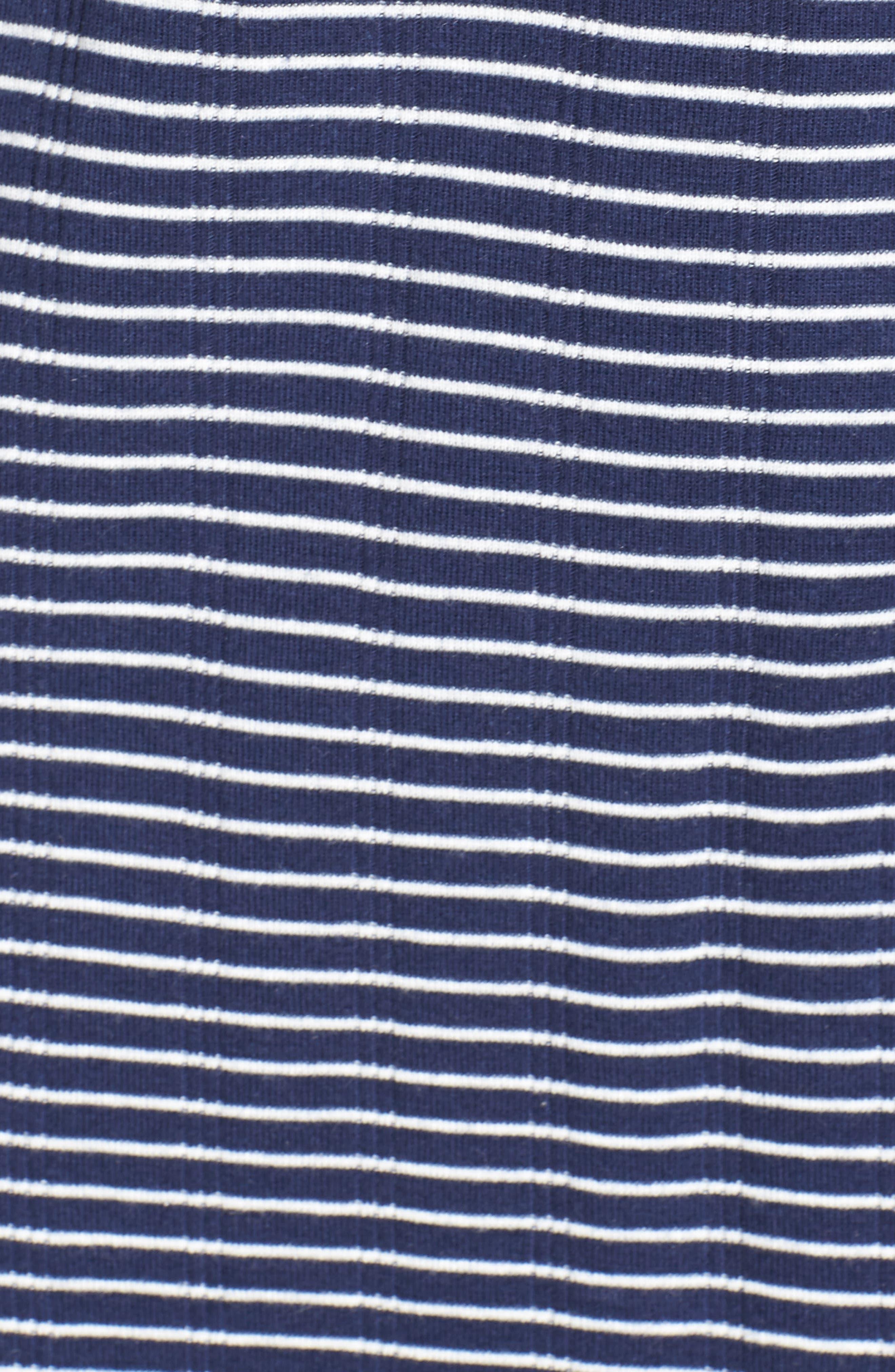 Stripe Henley Sleep Shirt,                             Alternate thumbnail 5, color,                             405