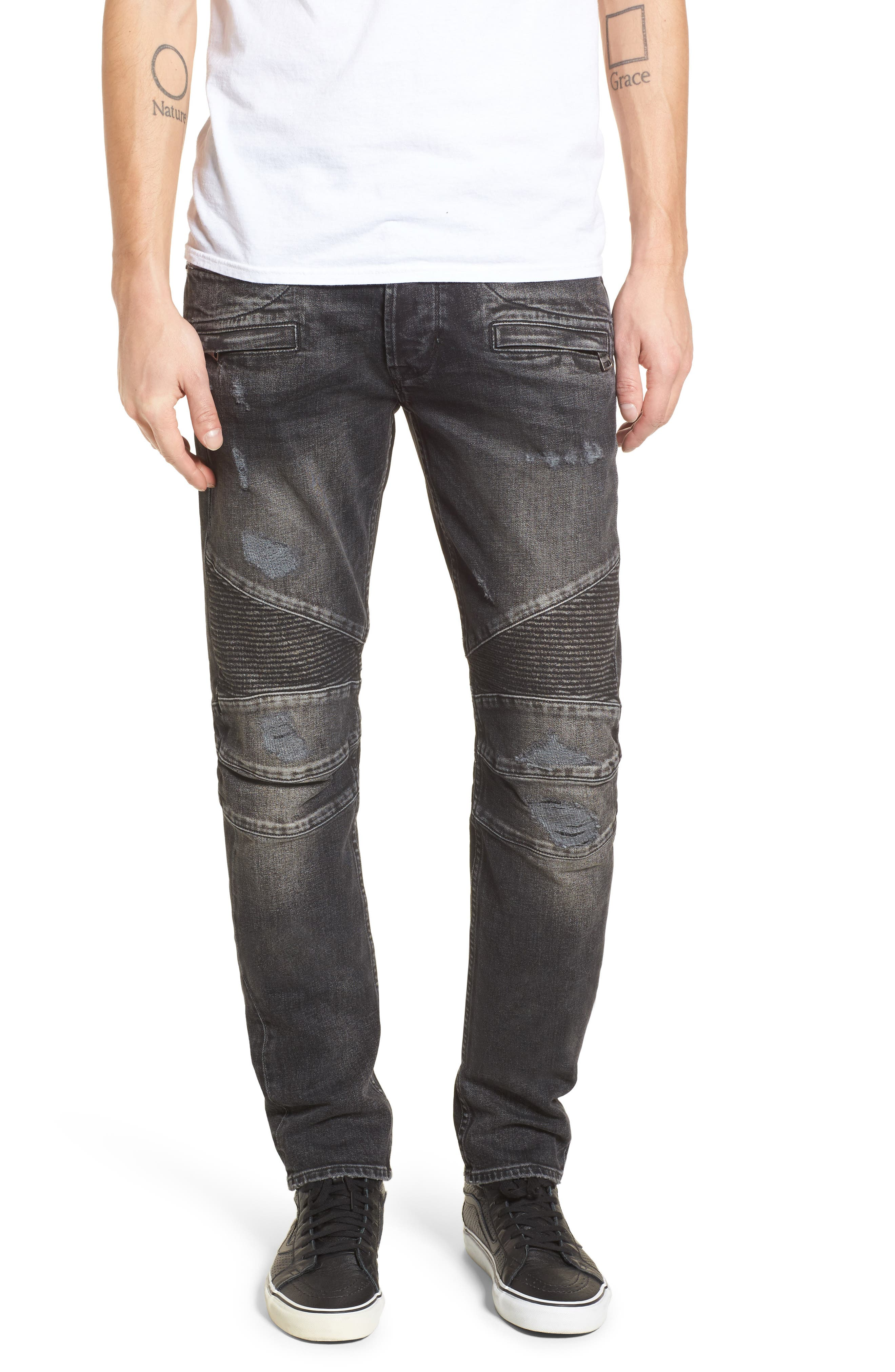 Blinder Biker Skinny Fit Jeans,                             Main thumbnail 1, color,                             HACKER