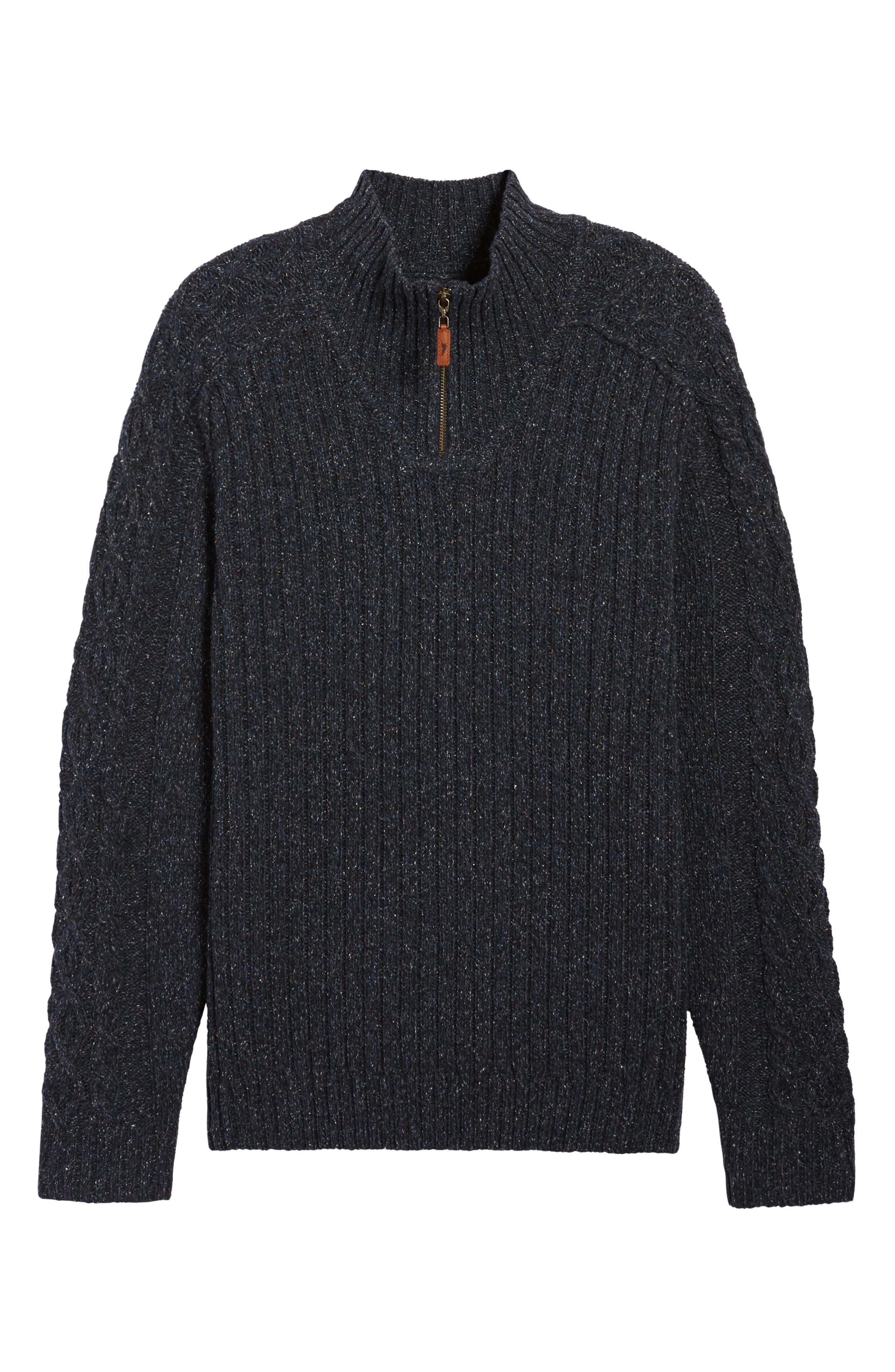 Hamada Quarter Zip Sweater,                             Alternate thumbnail 6, color,                             401