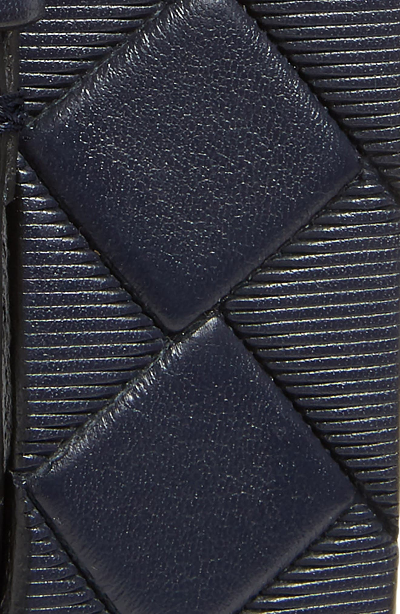 Basketweave Leather Belt,                             Alternate thumbnail 2, color,                             NAVY
