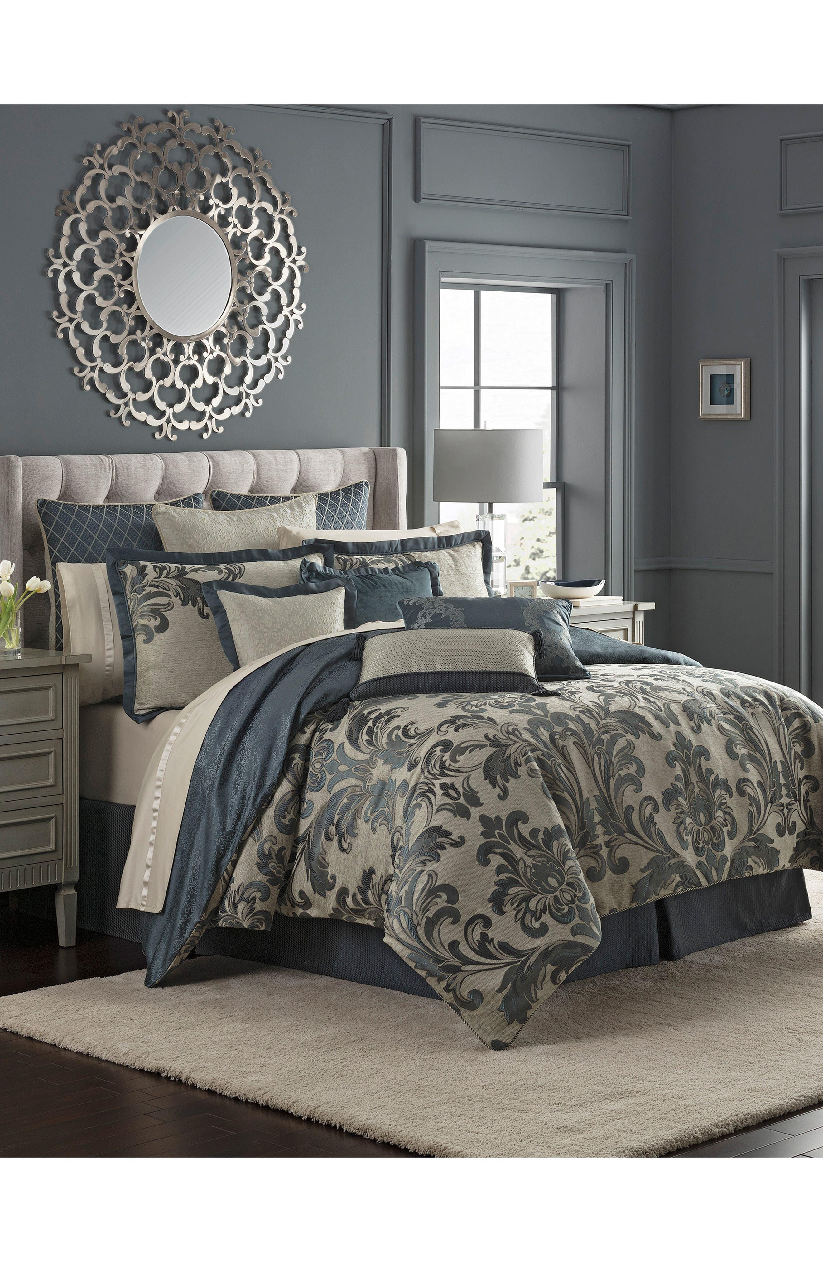Everett Reversible Comforter, Sham & Bed Skirt Set,                             Alternate thumbnail 8, color,                             TEAL