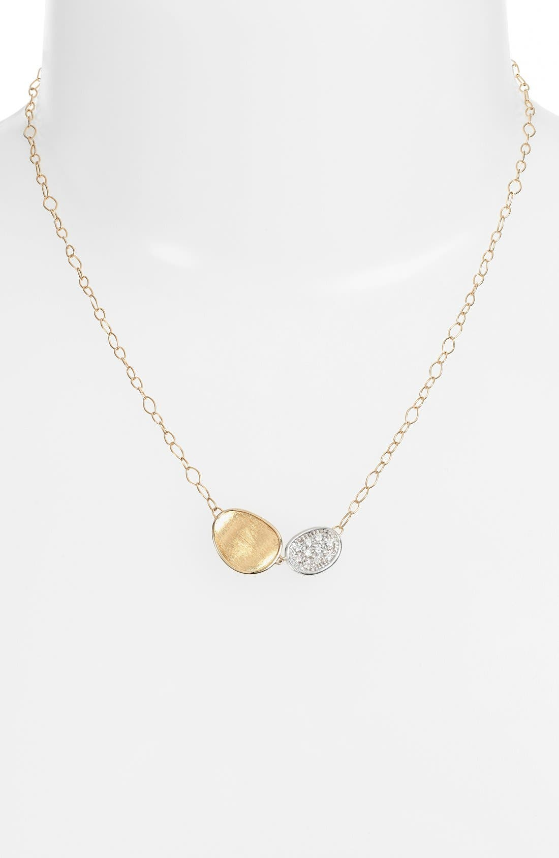 Lunaria Pendant Necklace,                             Alternate thumbnail 2, color,                             YELLOW GOLD