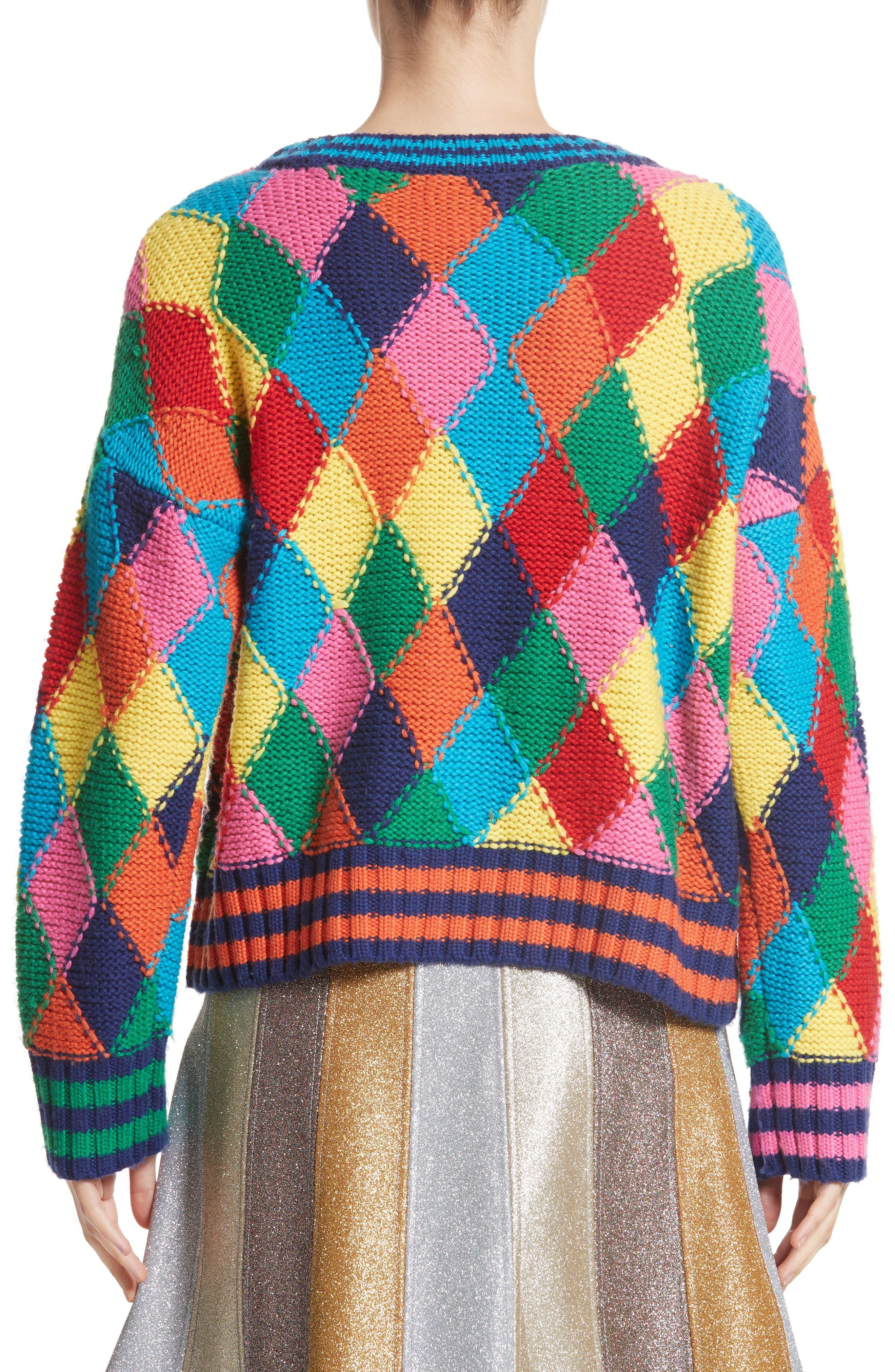 Diamond Stitch Sweater,                             Alternate thumbnail 2, color,                             960