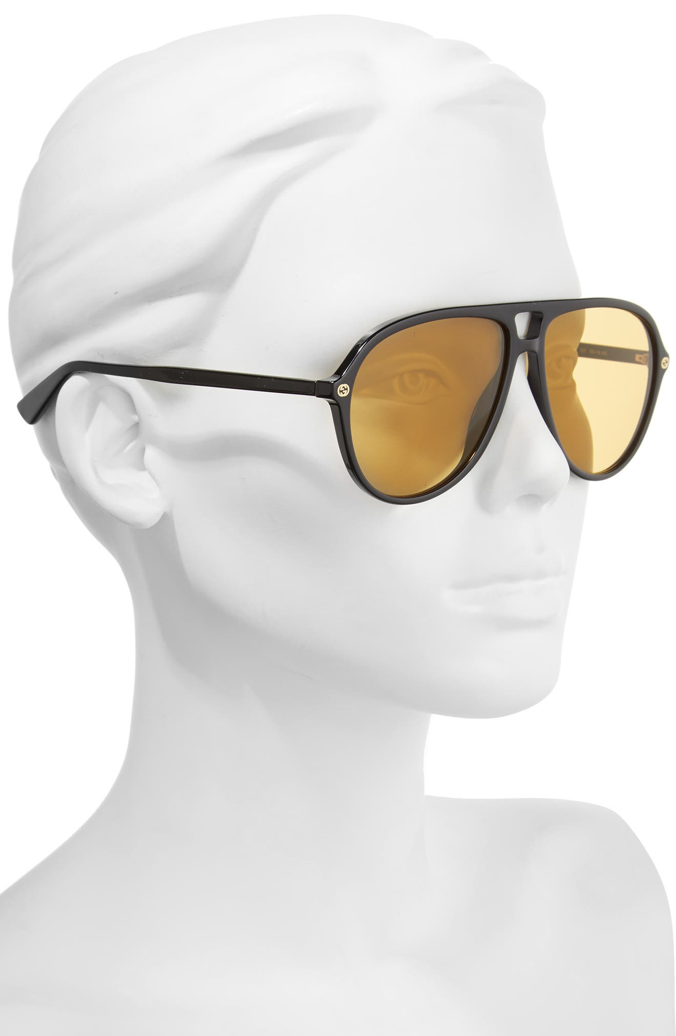 Pilot 59mm Sunglasses,                             Alternate thumbnail 2, color,                             001