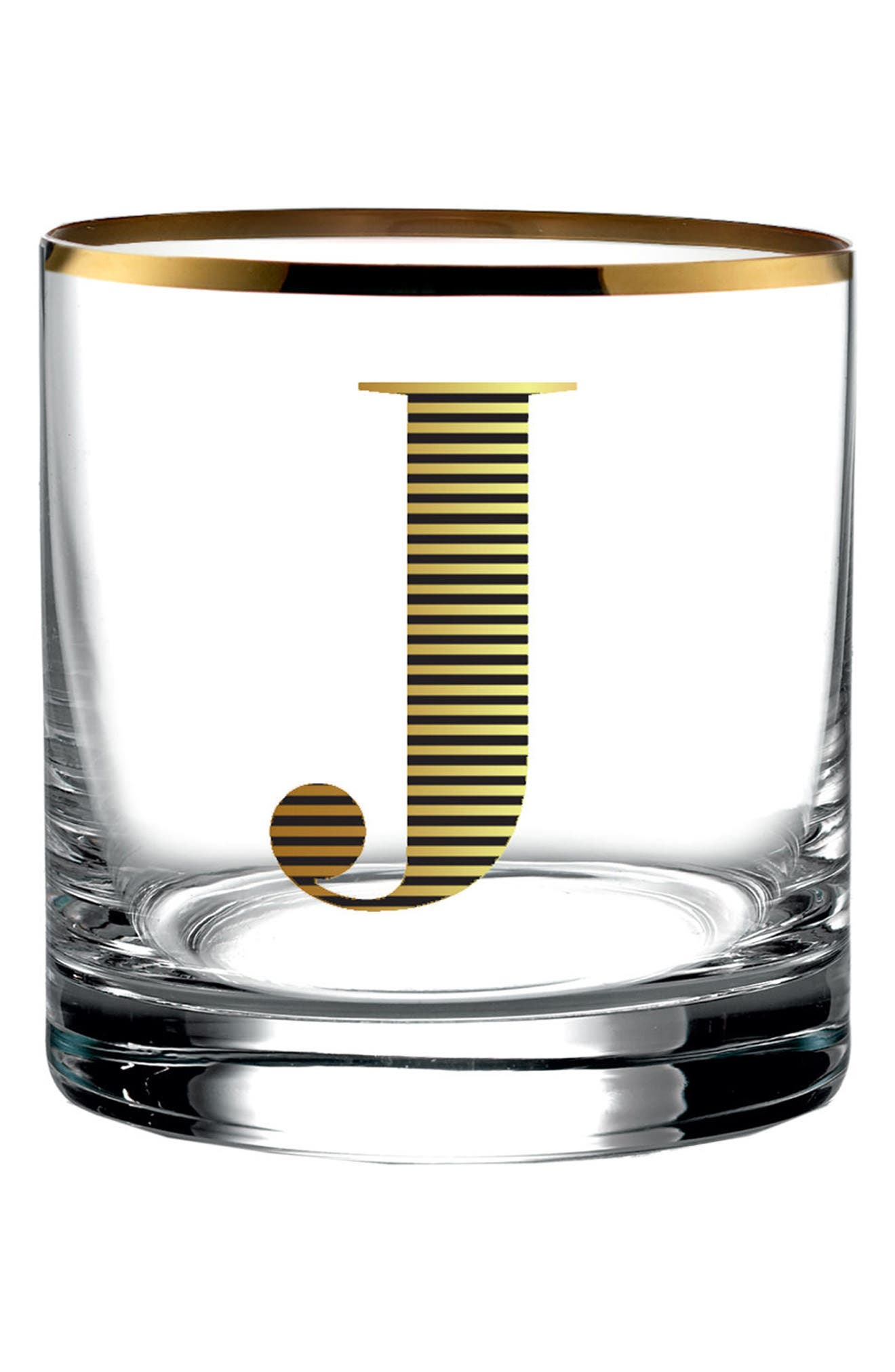Monogram Old Fashioned Glass,                         Main,                         color, 710