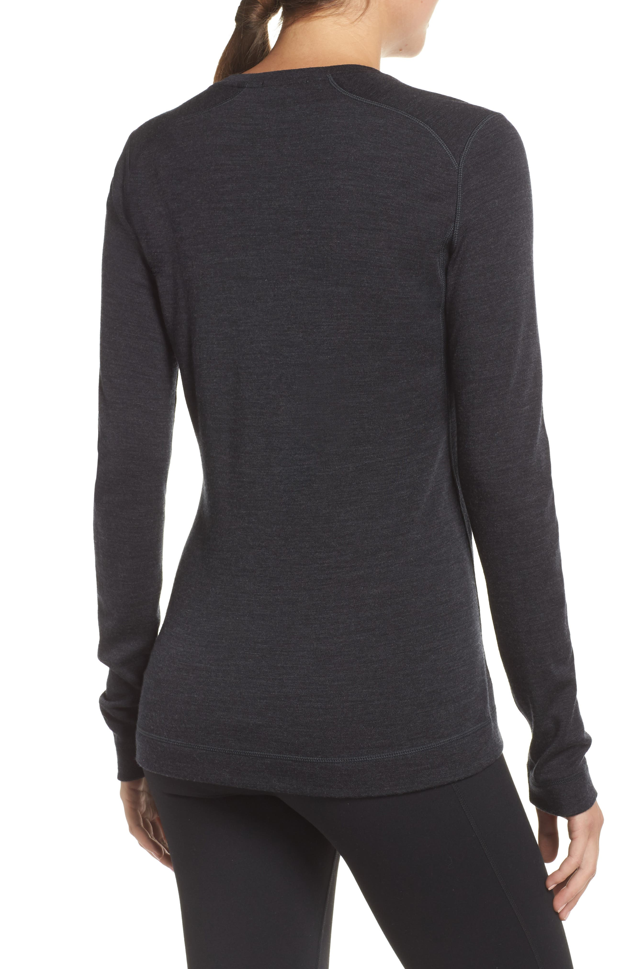 Merino 250 Base Layer Crew Top,                             Alternate thumbnail 2, color,                             CHARCOAL HEATHER