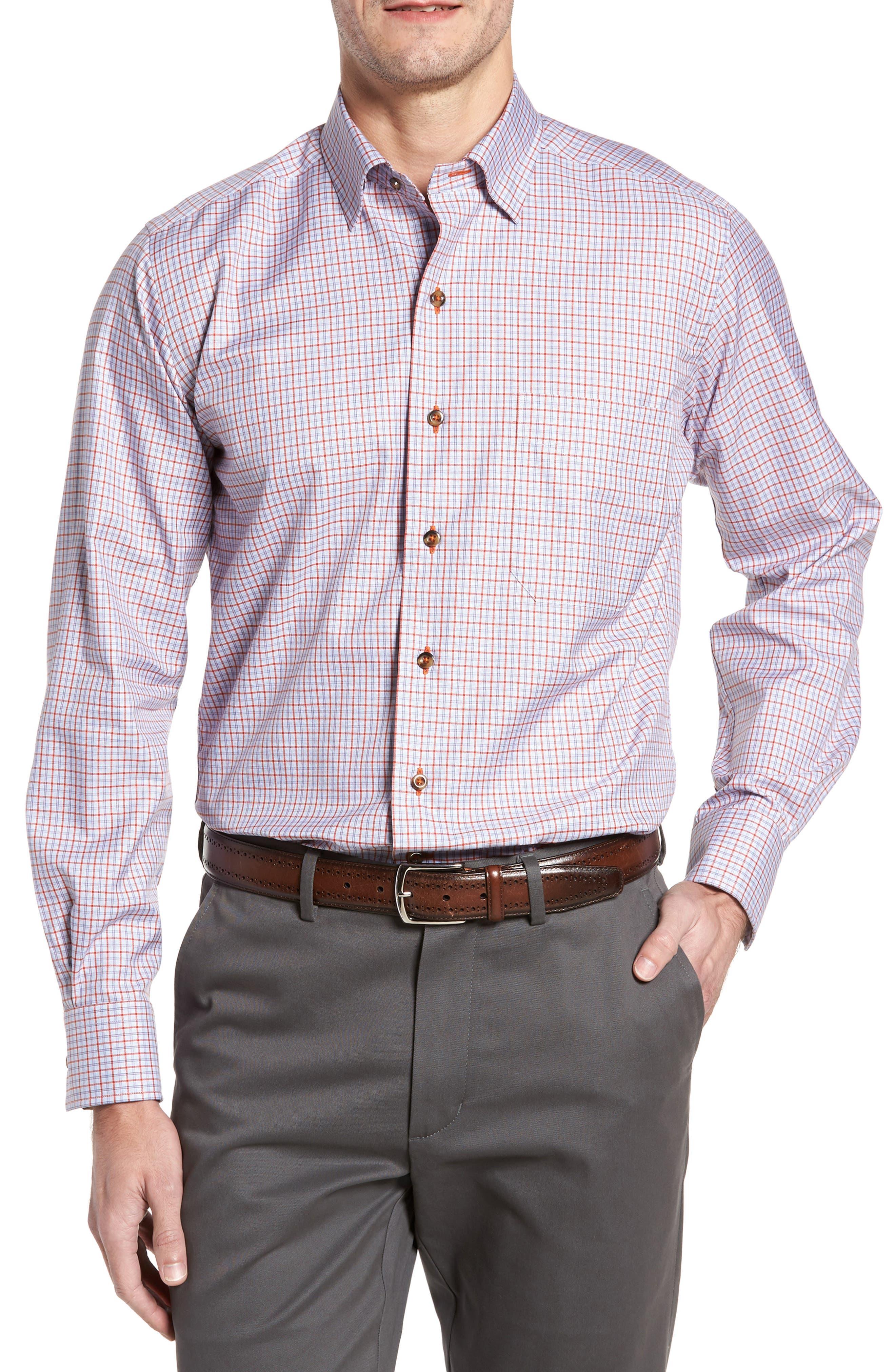 Regular Fit Plaid Sport Shirt,                         Main,                         color, 804