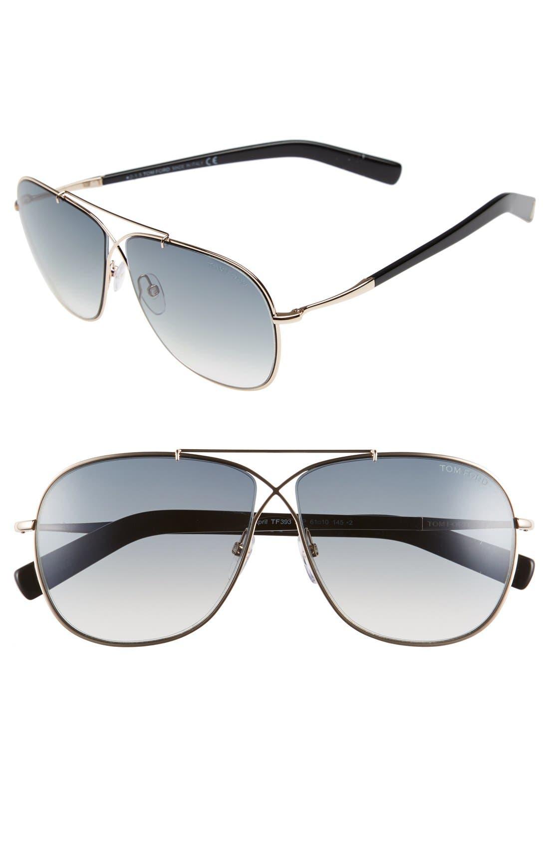 'April' 61mm Retro Sunglasses,                             Main thumbnail 3, color,