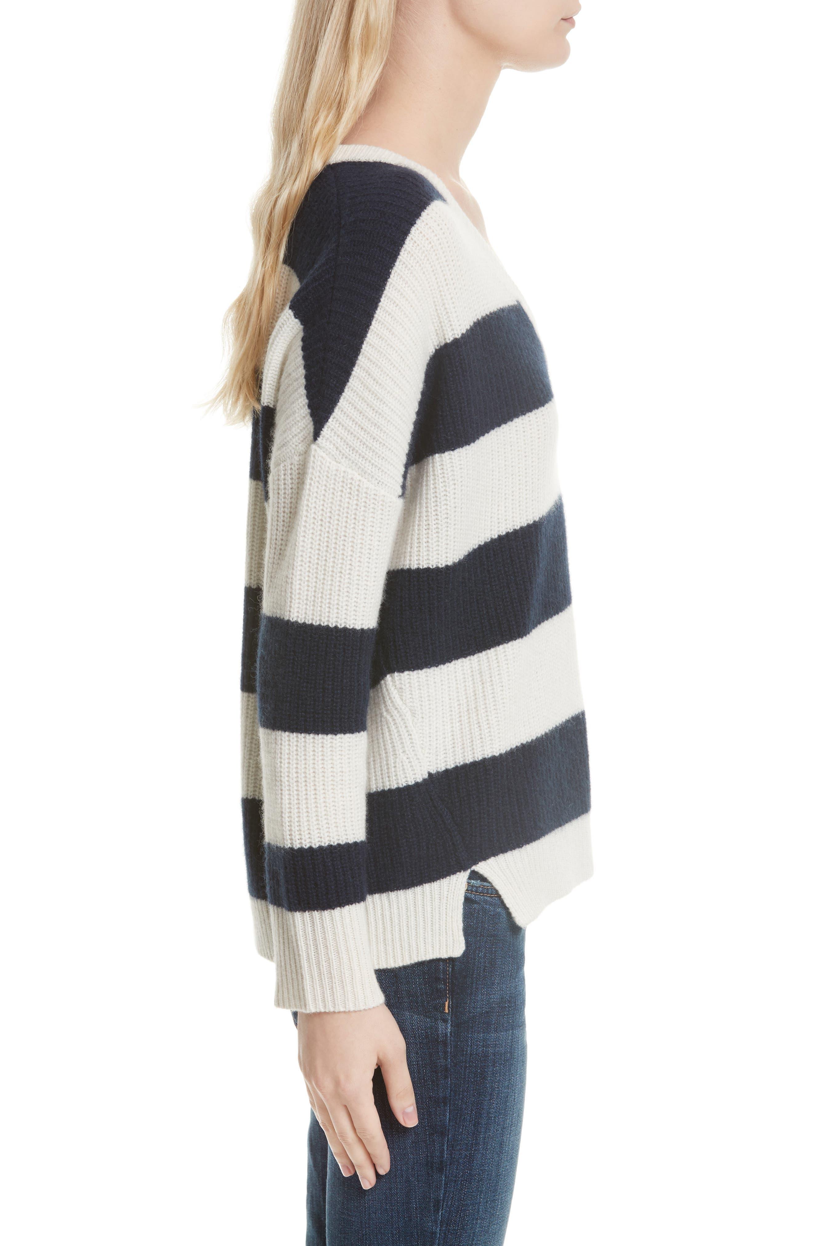 Cashmere Stripe Sweater,                             Alternate thumbnail 3, color,                             902