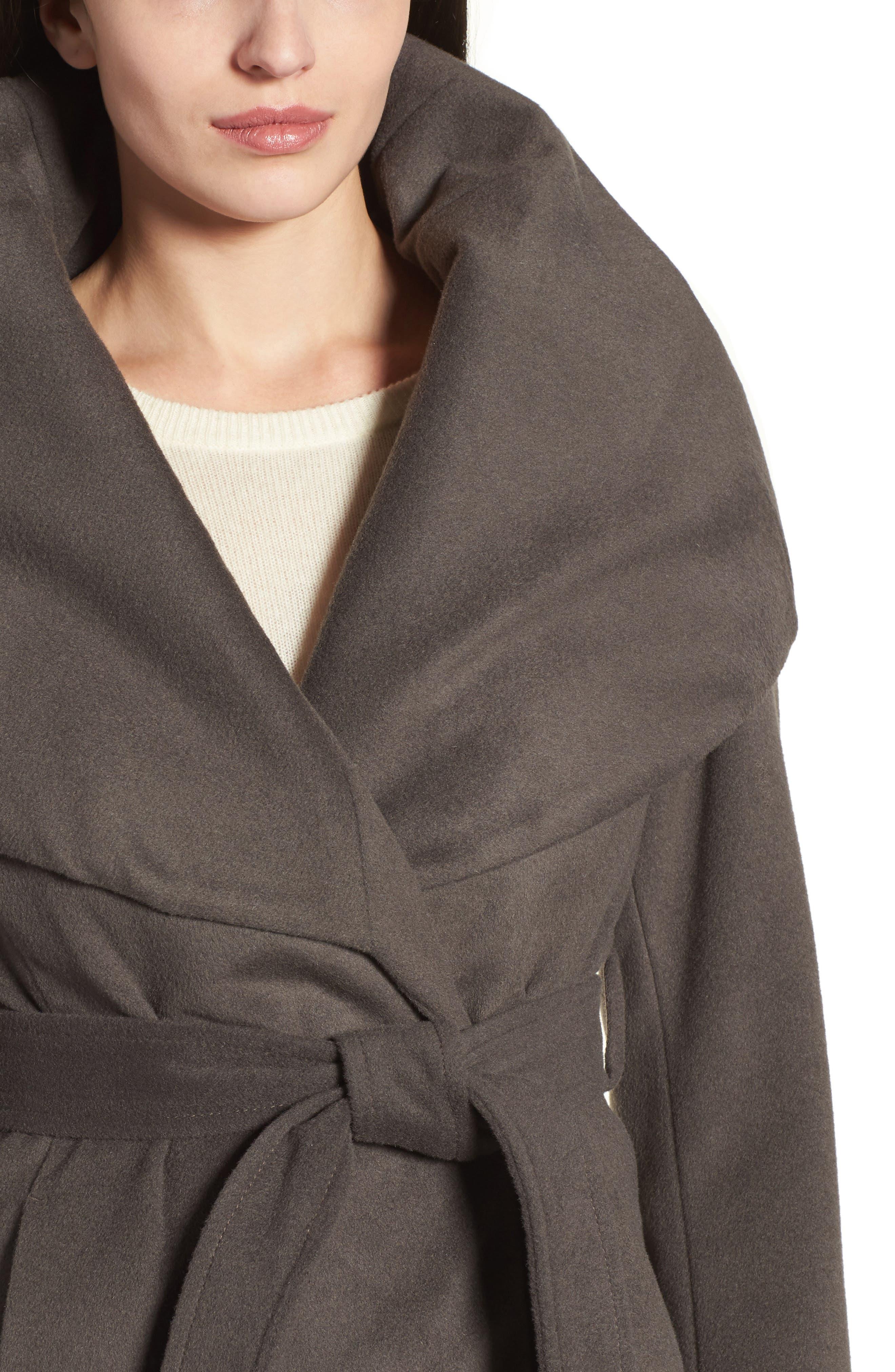 T Tahari Wool Blend Belted Wrap Coat,                             Alternate thumbnail 32, color,