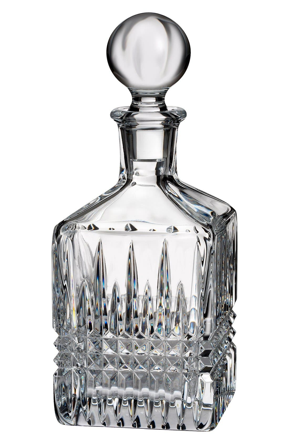 'Lismore Diamond' Lead Crystal Decanter,                         Main,                         color, 100