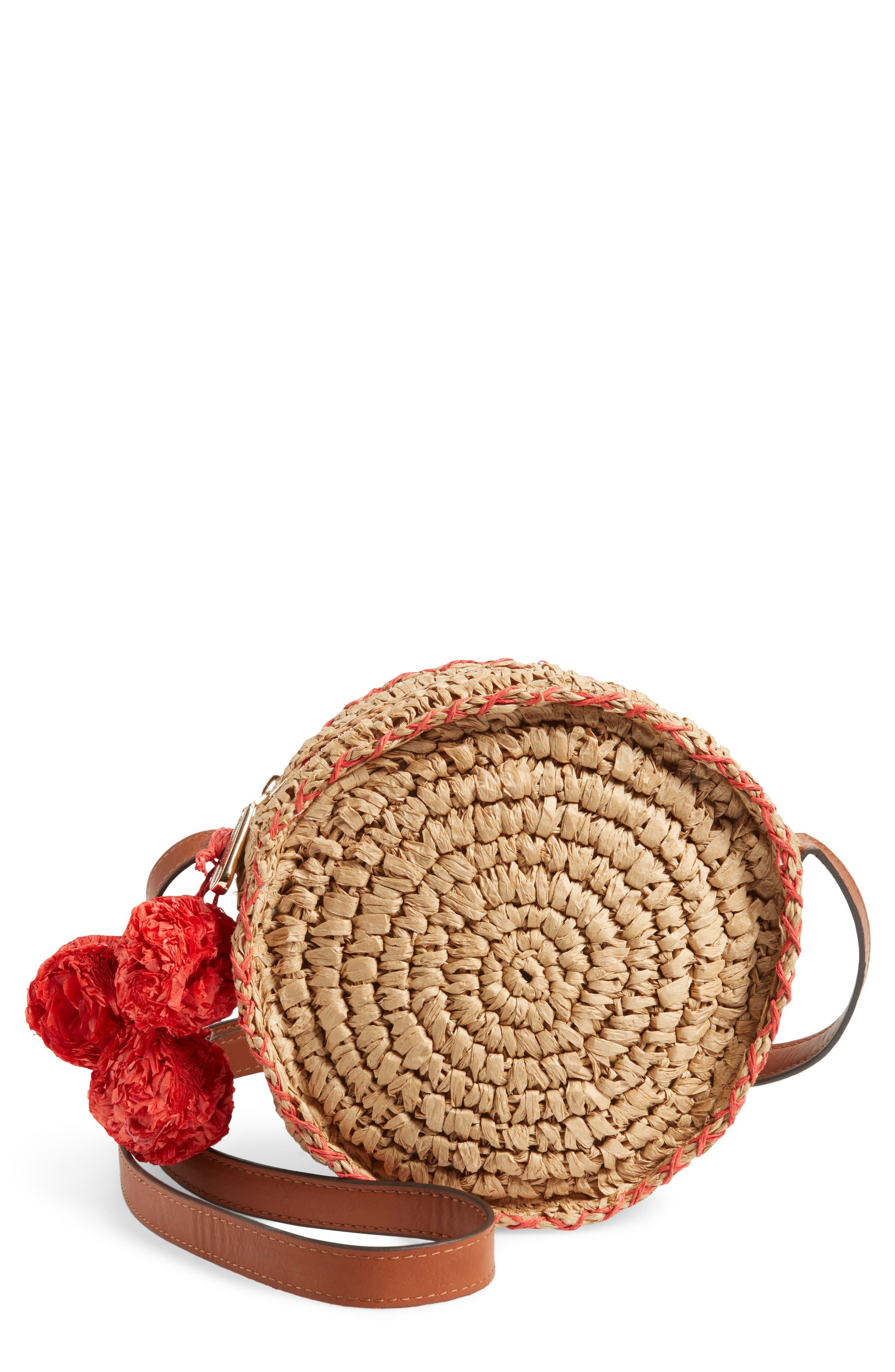 Pirro Woven Straw Crossbody Bag,                         Main,                         color, 237