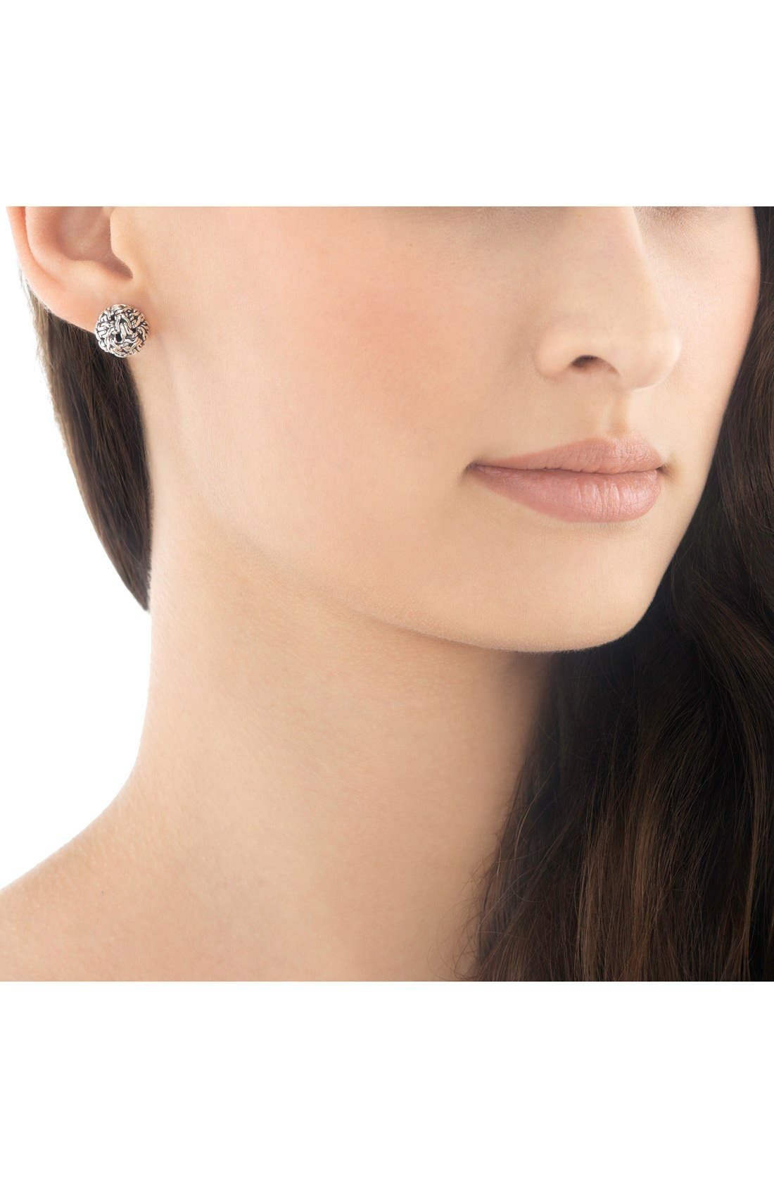 'Classic Chain' Stud Earrings,                             Alternate thumbnail 2, color,                             STERLING SILVER