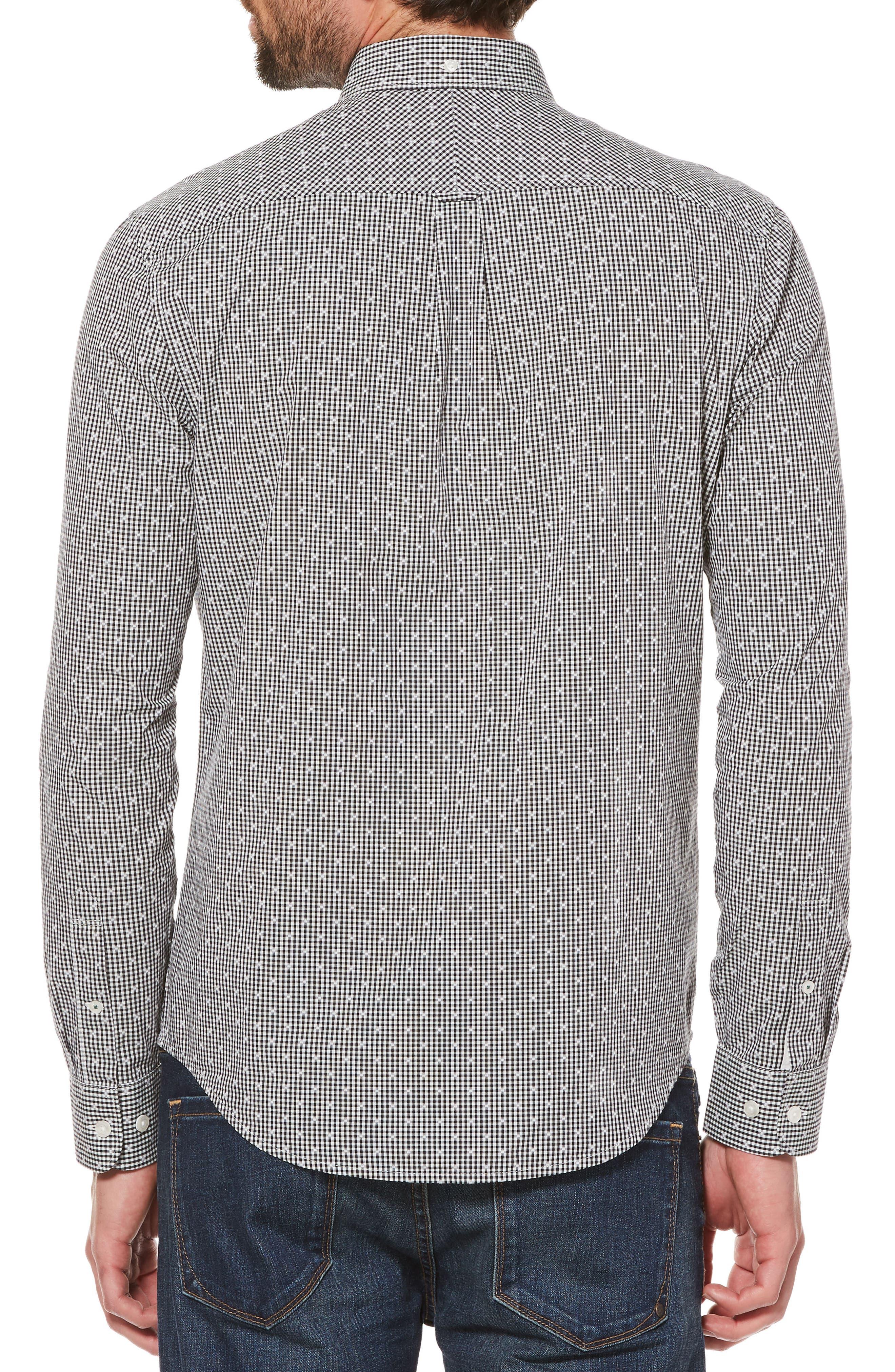 ORIGINAL PENGUIN,                             Dobby Gingham Sport Shirt,                             Alternate thumbnail 2, color,                             010