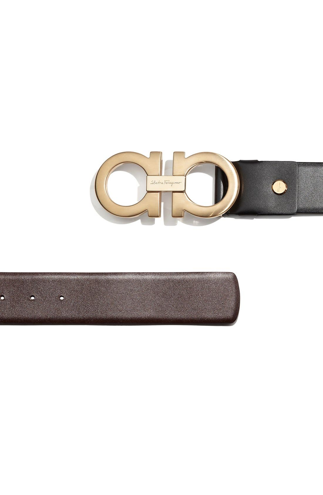 Reversible Calfskin Belt,                             Alternate thumbnail 4, color,                             001