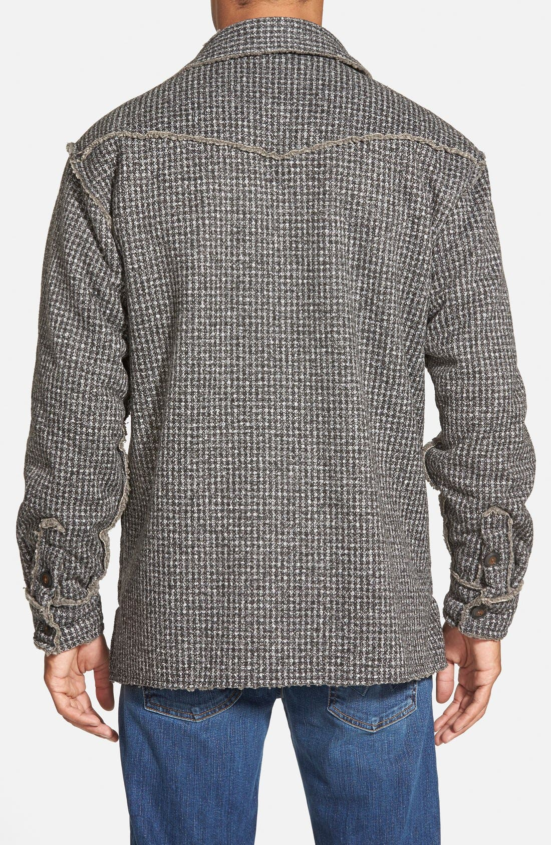 Lined Tweed Shirt Jacket,                             Alternate thumbnail 2, color,                             033