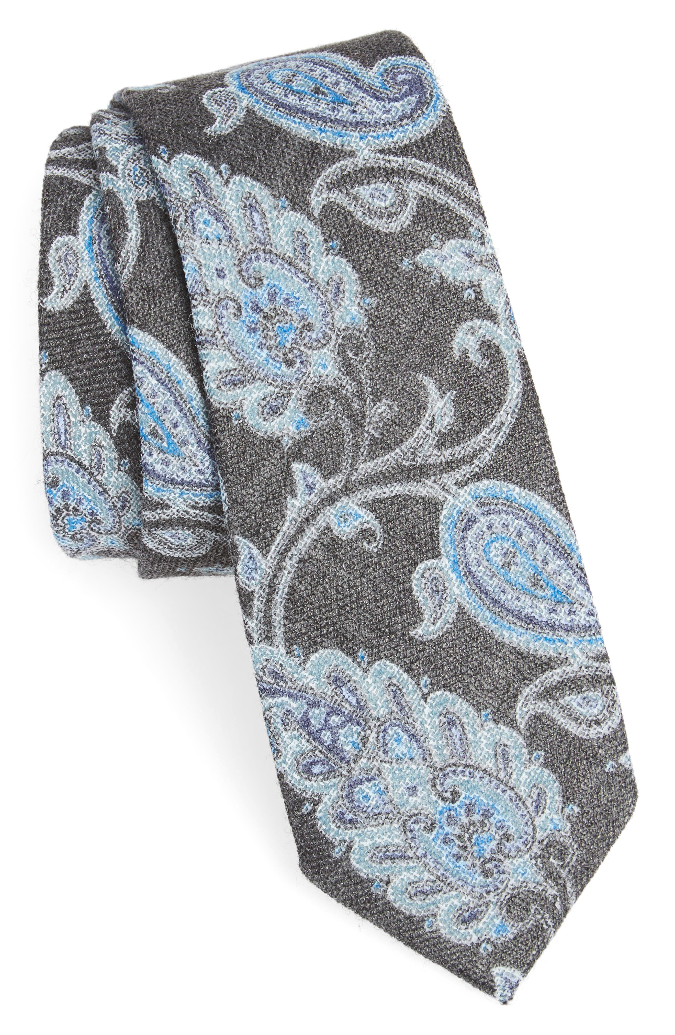 Bradford Paisley Skinny Tie,                             Main thumbnail 1, color,