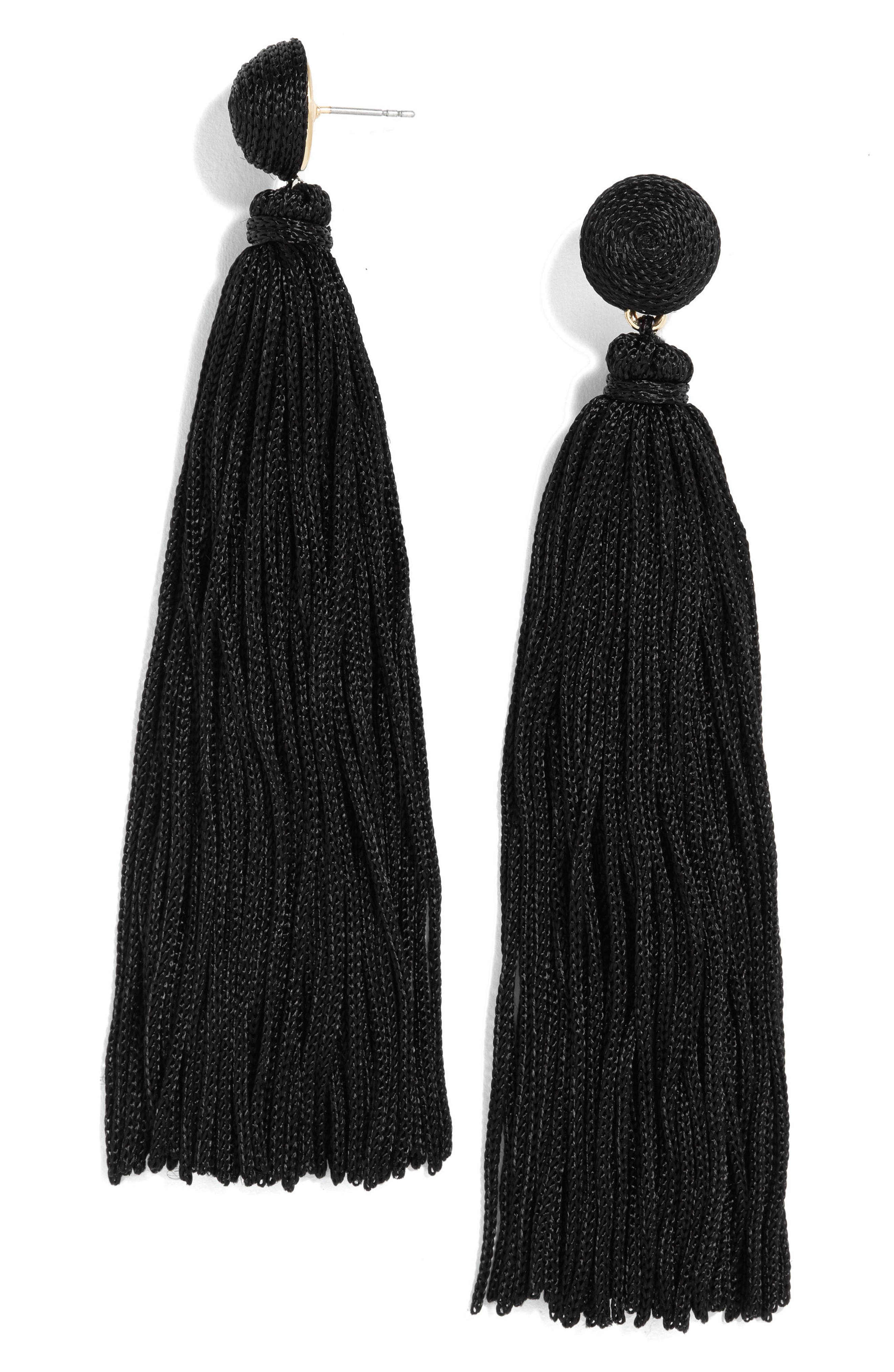 Valencia Shoulder Duster Tassel Earrings,                             Main thumbnail 1, color,                             001
