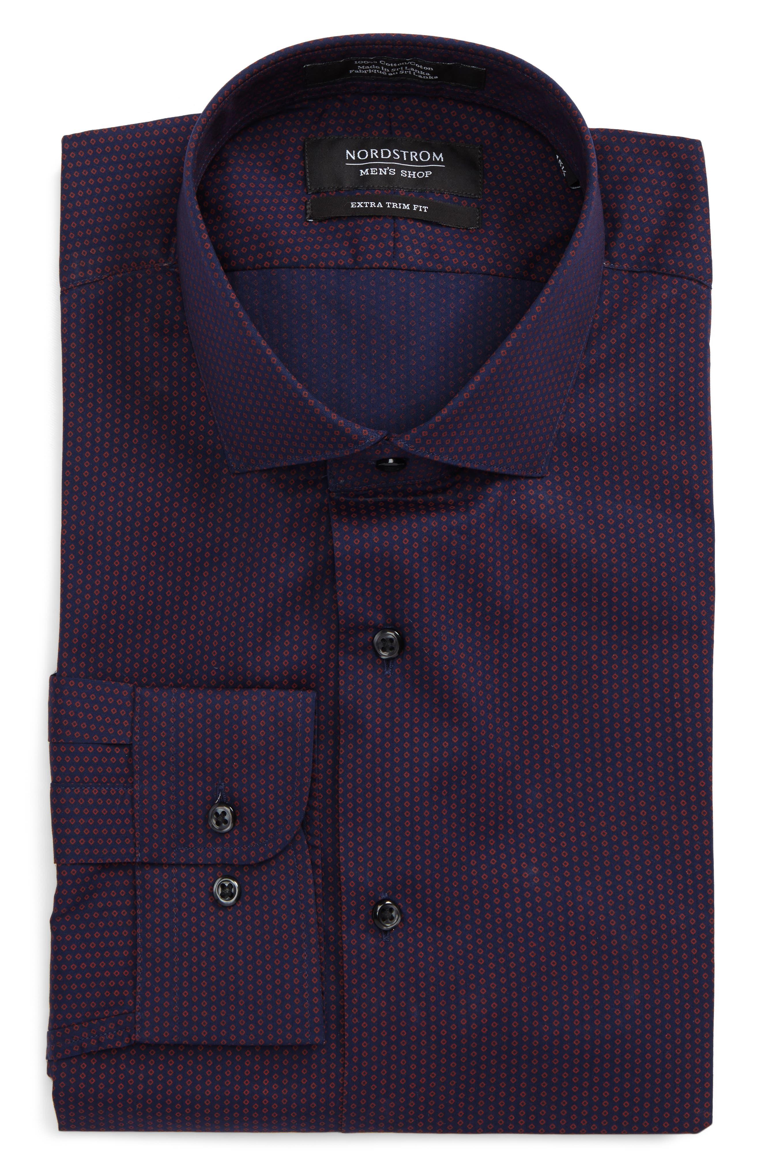 Extra Trim Fit Dress Shirt,                             Main thumbnail 1, color,                             601