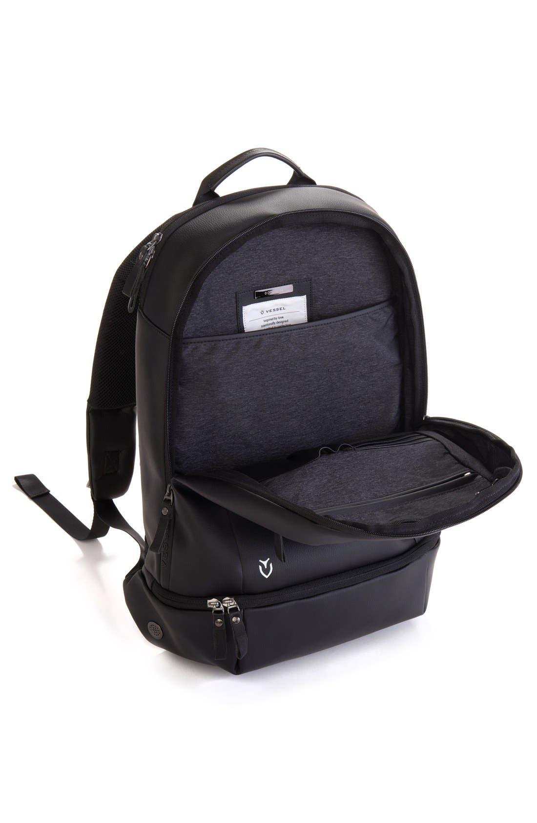 'Signature' Backpack,                             Alternate thumbnail 4, color,                             PEBBLED BLACK