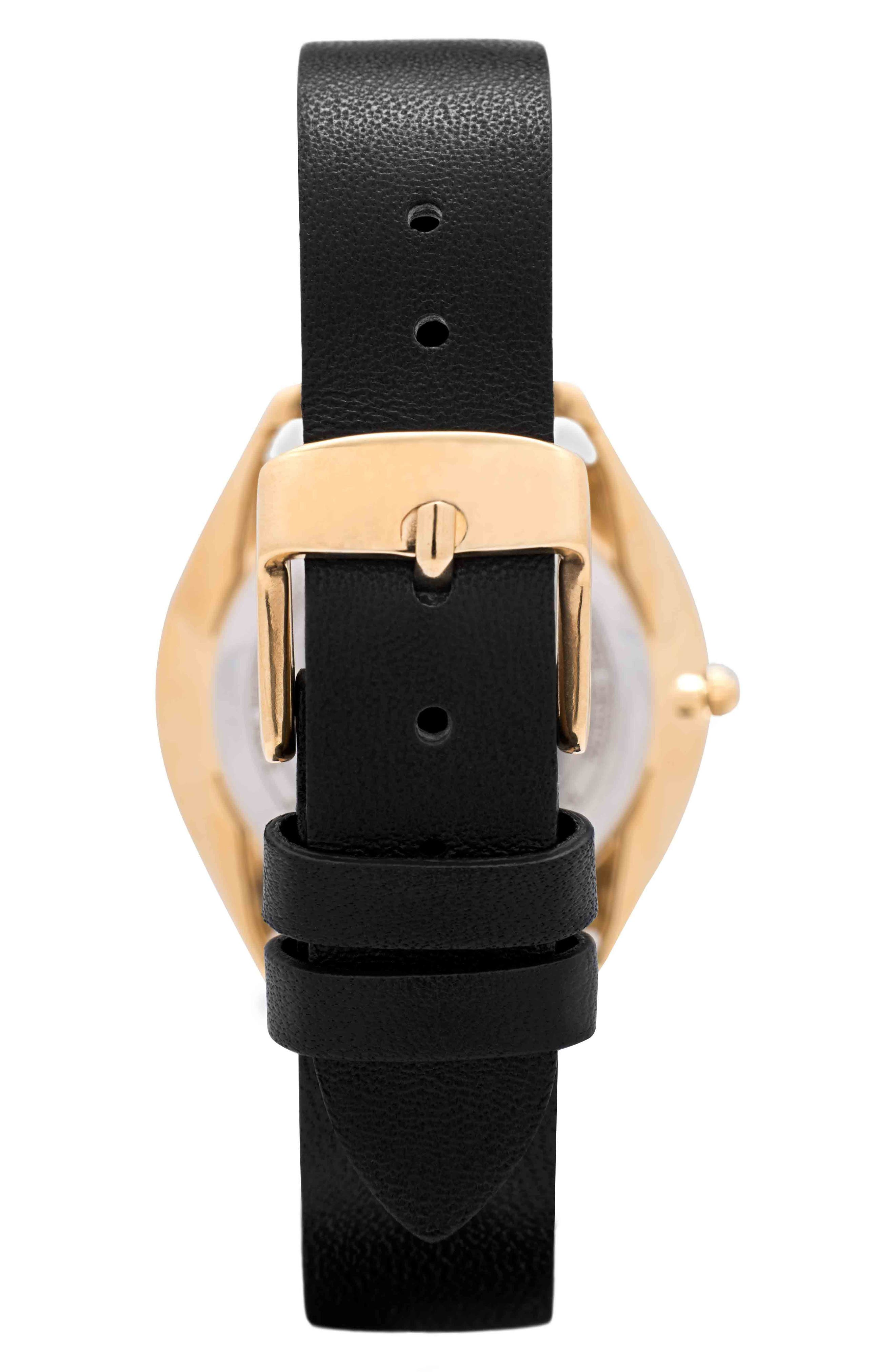 Chelsea Leather Strap Watch, 34mm,                             Alternate thumbnail 2, color,                             001