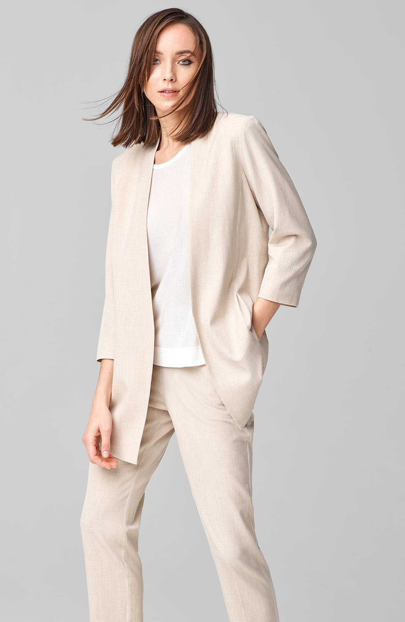 Long Open Front Jacket,                             Alternate thumbnail 7, color,                             291