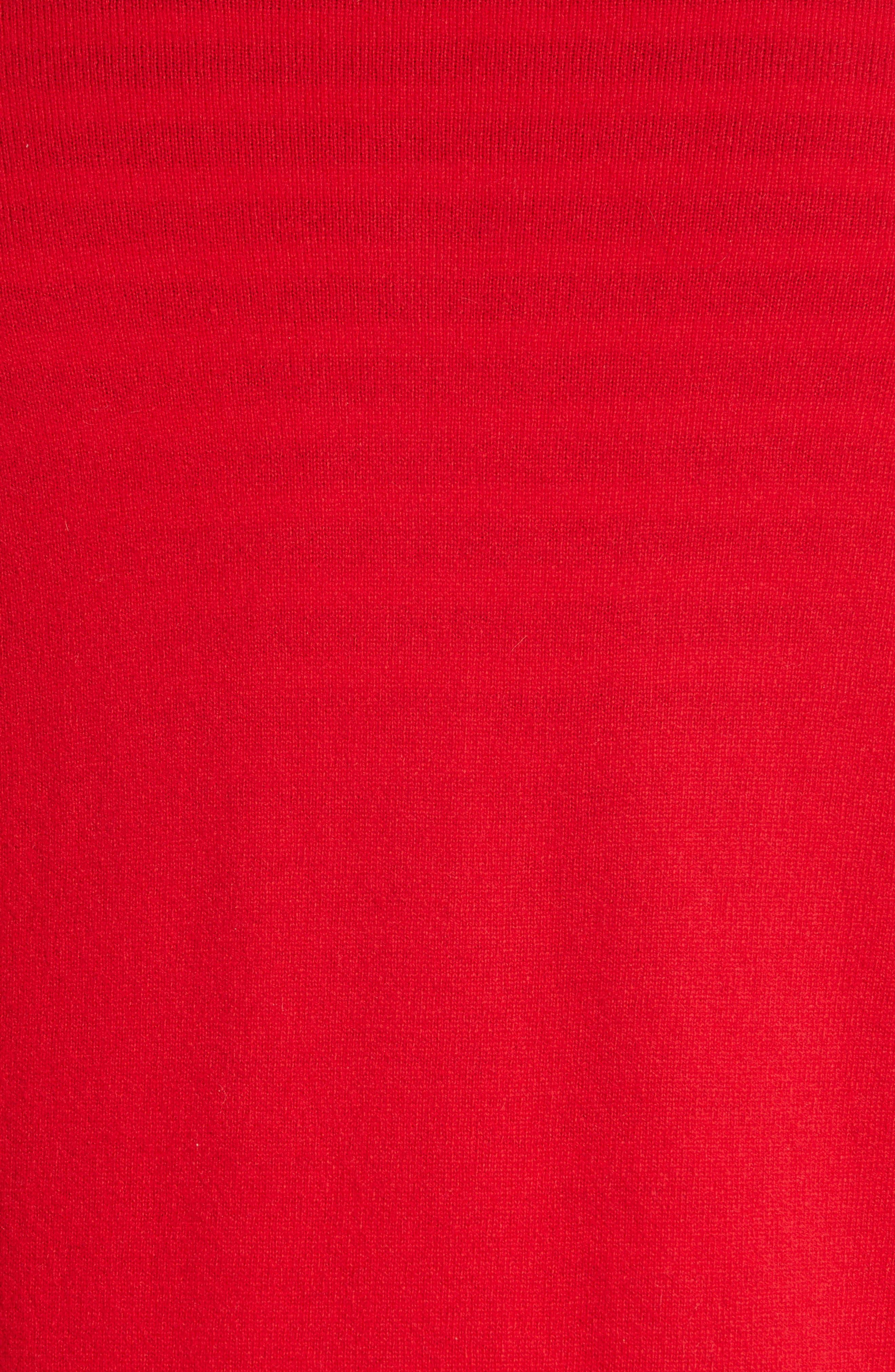 Wool Cardigan,                             Alternate thumbnail 5, color,                             RED