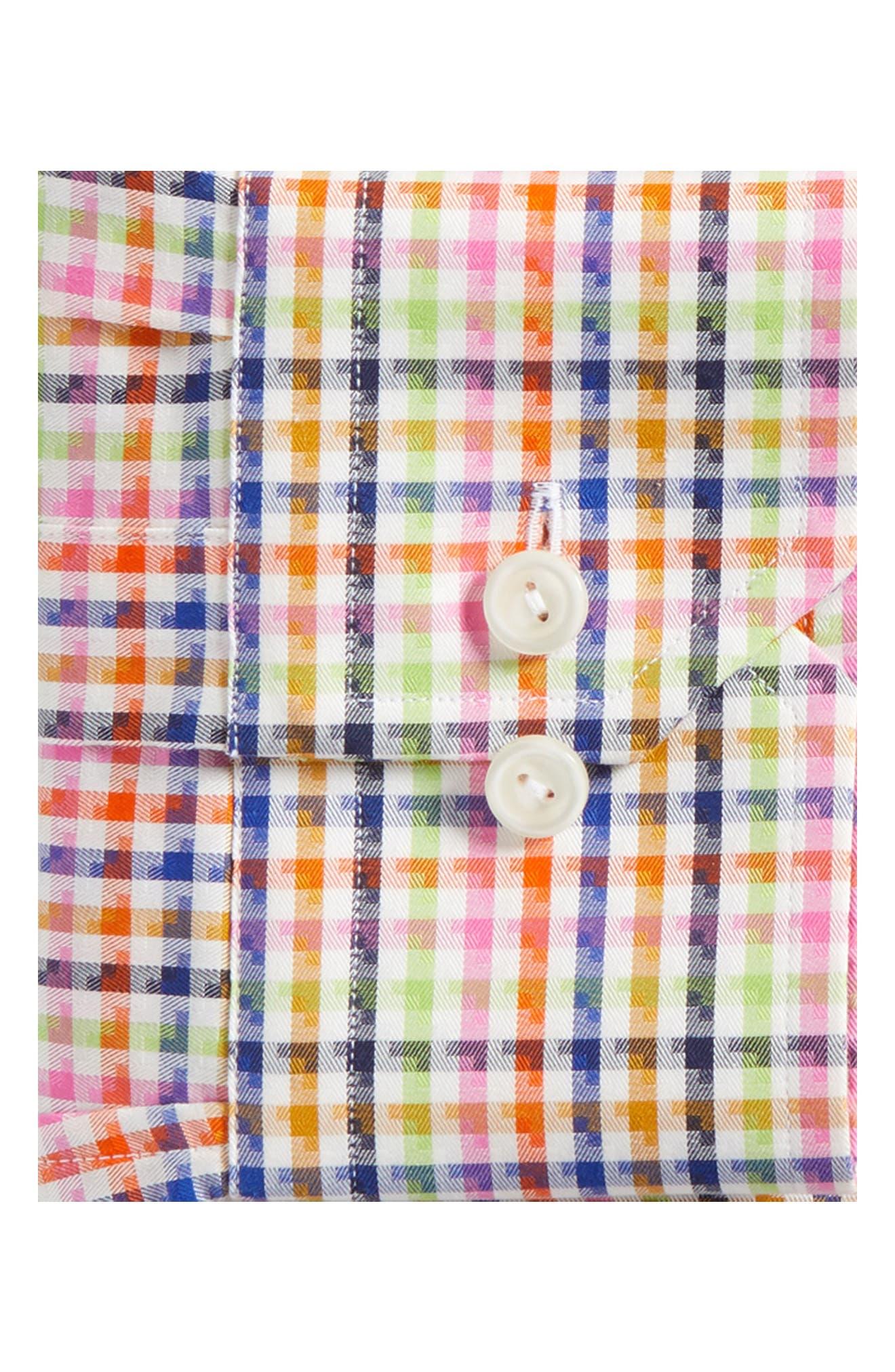 Slim Fit Check Dress Shirt,                             Alternate thumbnail 6, color,