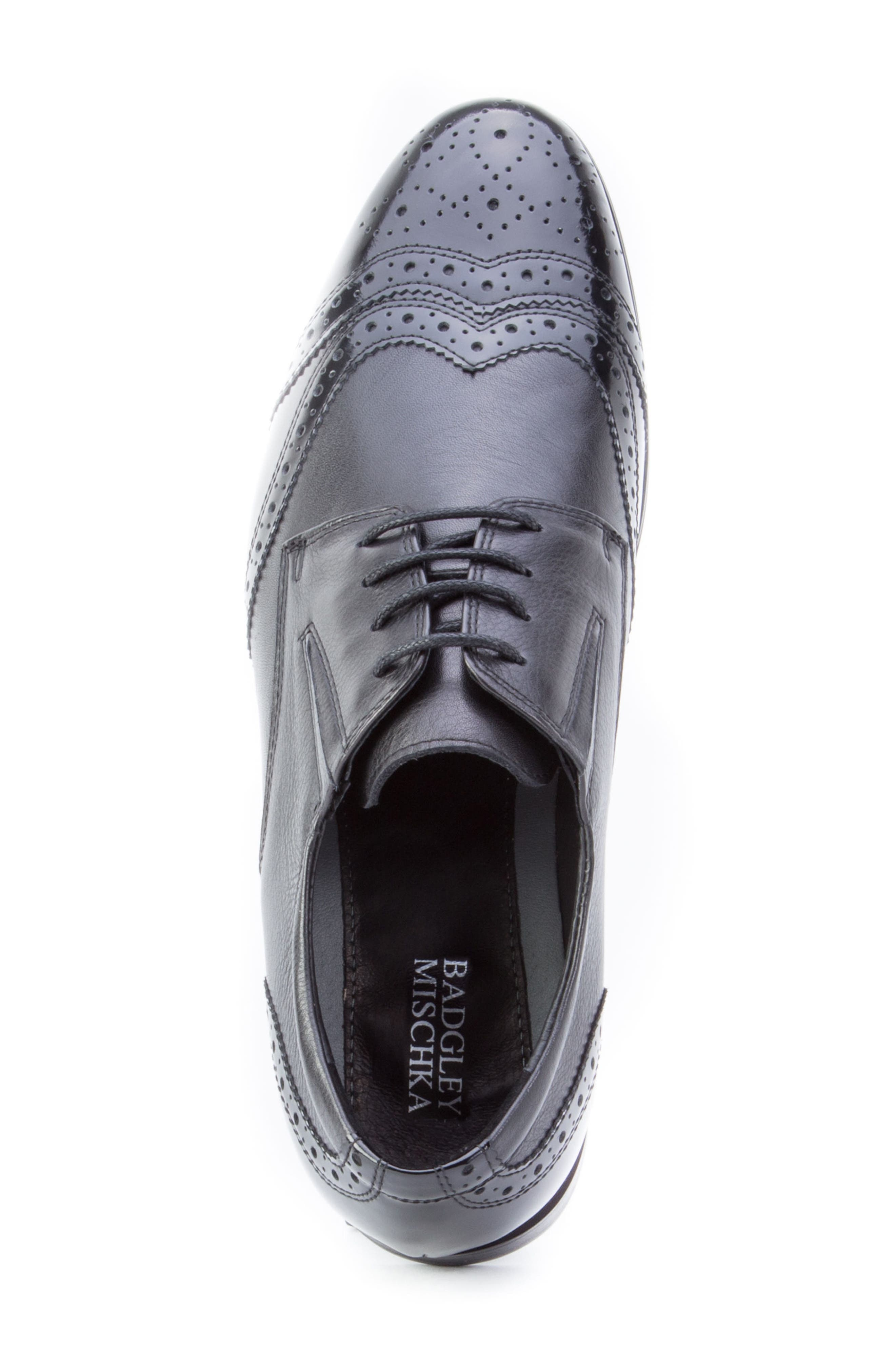 Andrews Wingtip,                             Alternate thumbnail 4, color,                             BLACK LEATHER