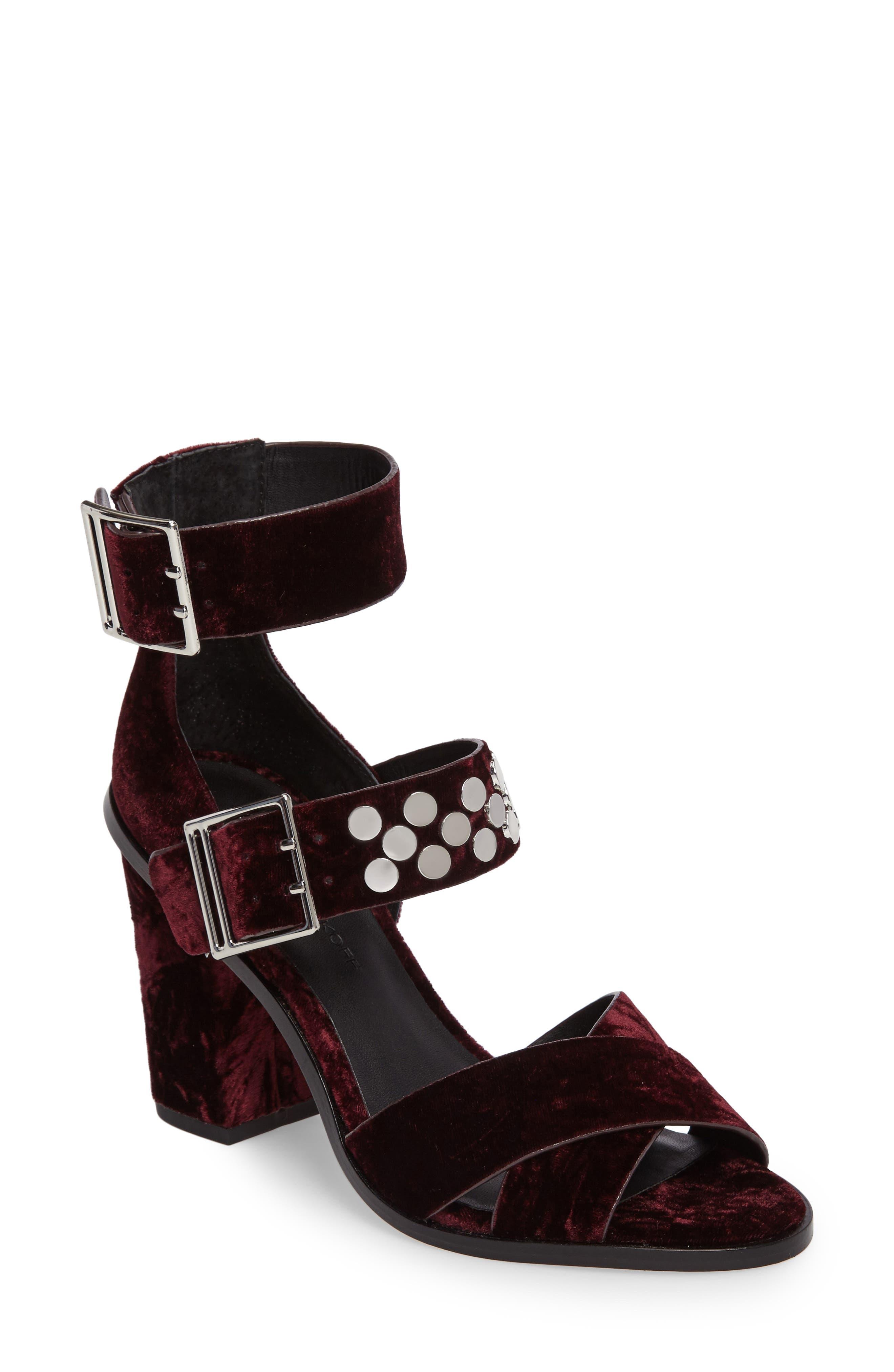 Jennifer Studded Ankle Cuff Sandal,                             Main thumbnail 3, color,
