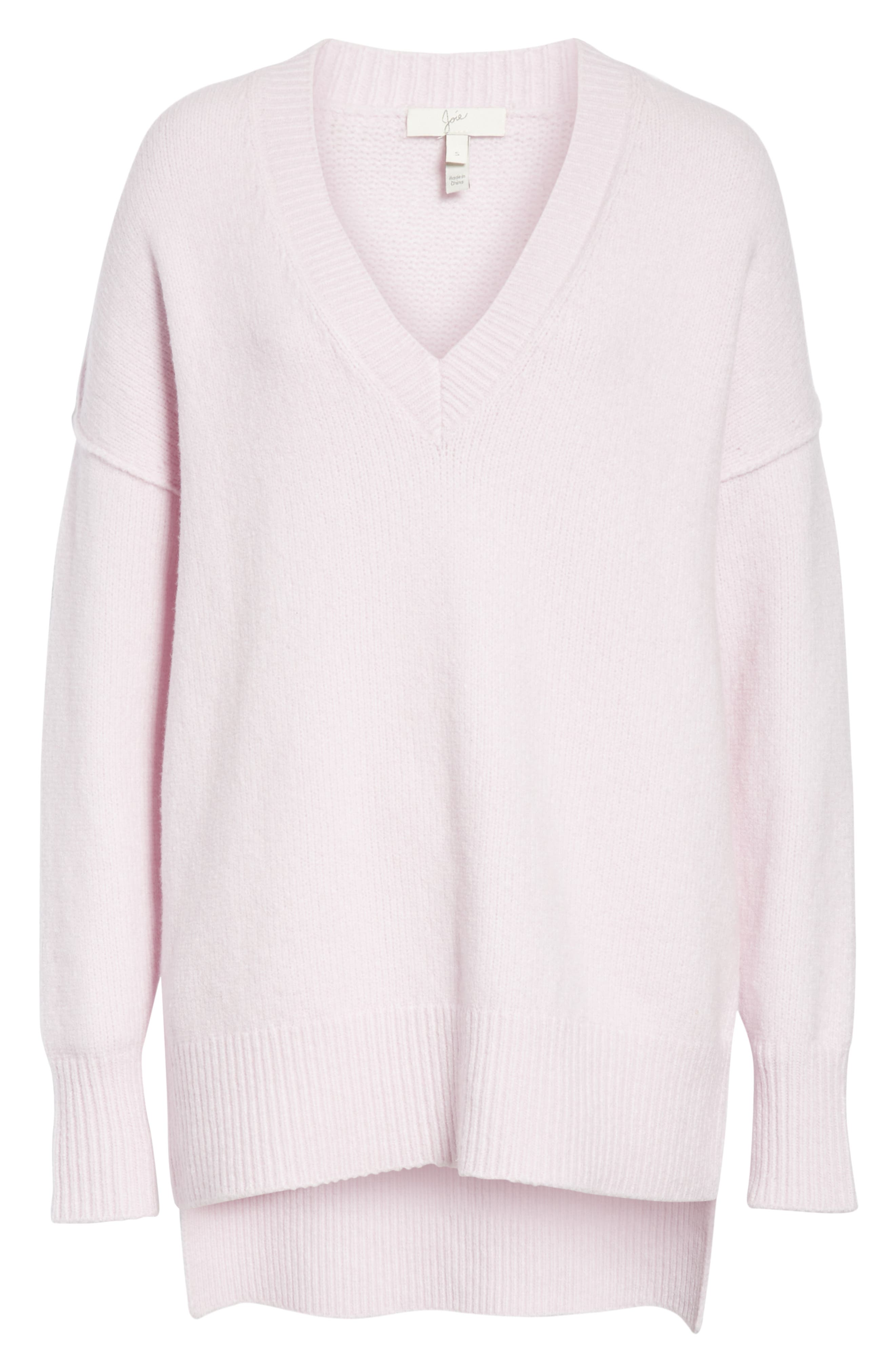JOIE Limana V-Neck Long-Sleeve Wool-Blend Sweater in Lilac Snow