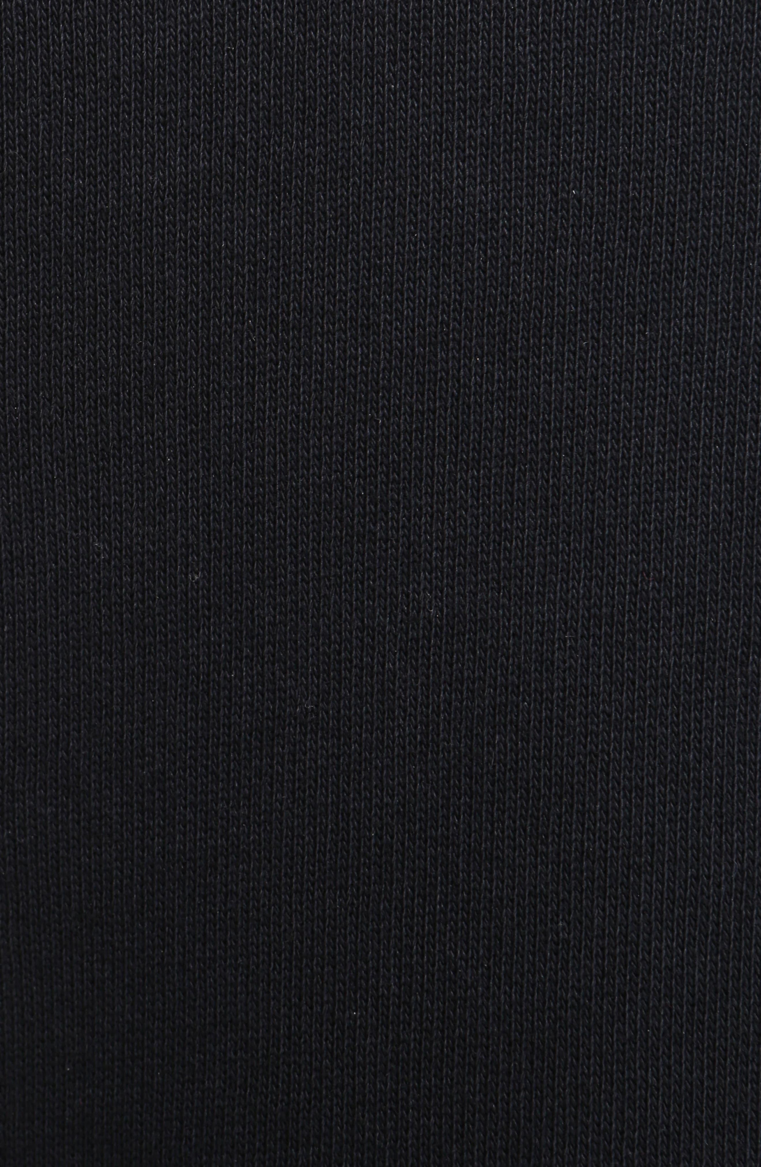 Ruffle Tunic Sweatshirt,                             Alternate thumbnail 5, color,                             001