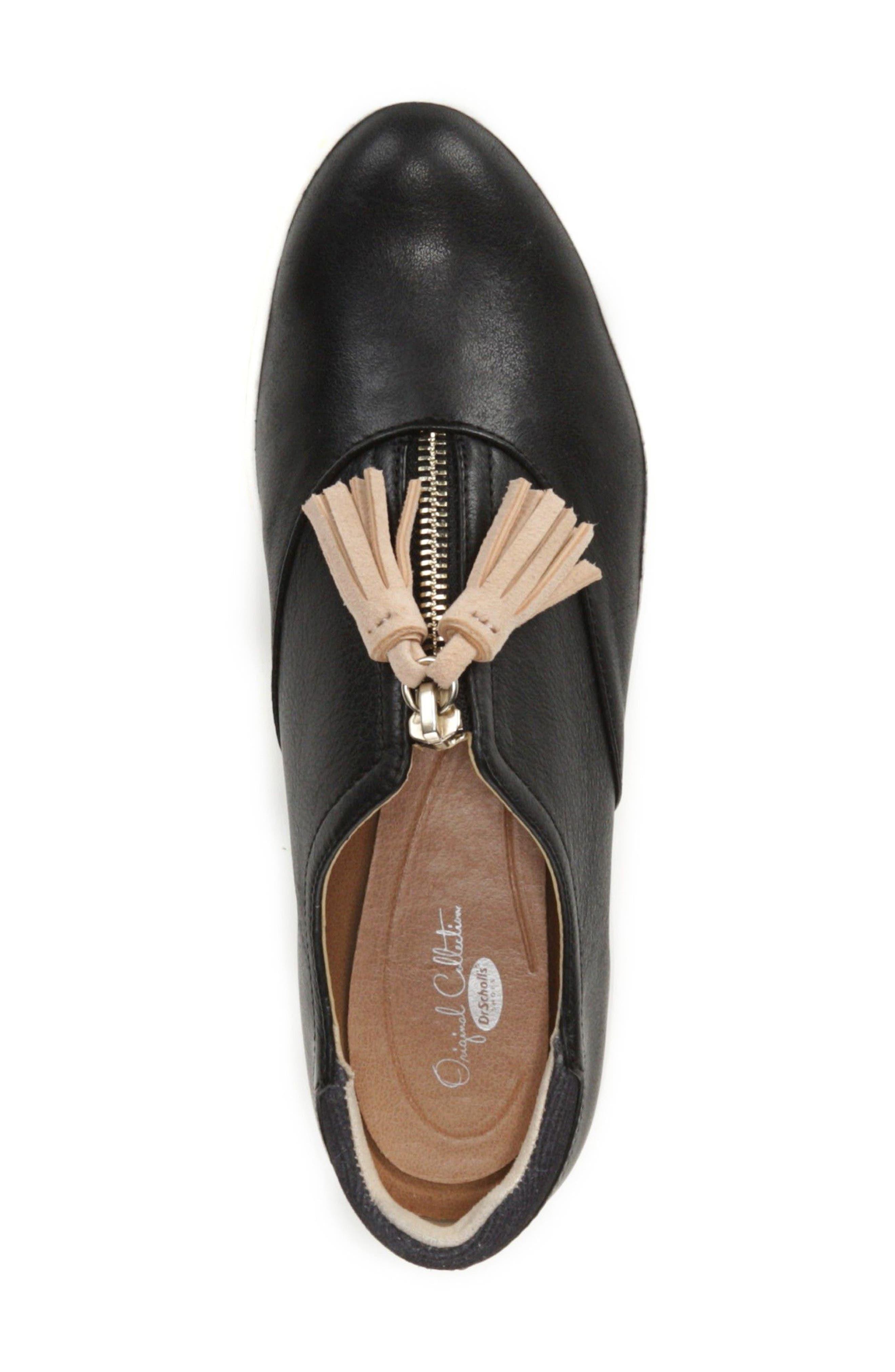 Blakely Tassel Zip Sneaker,                             Alternate thumbnail 5, color,                             001