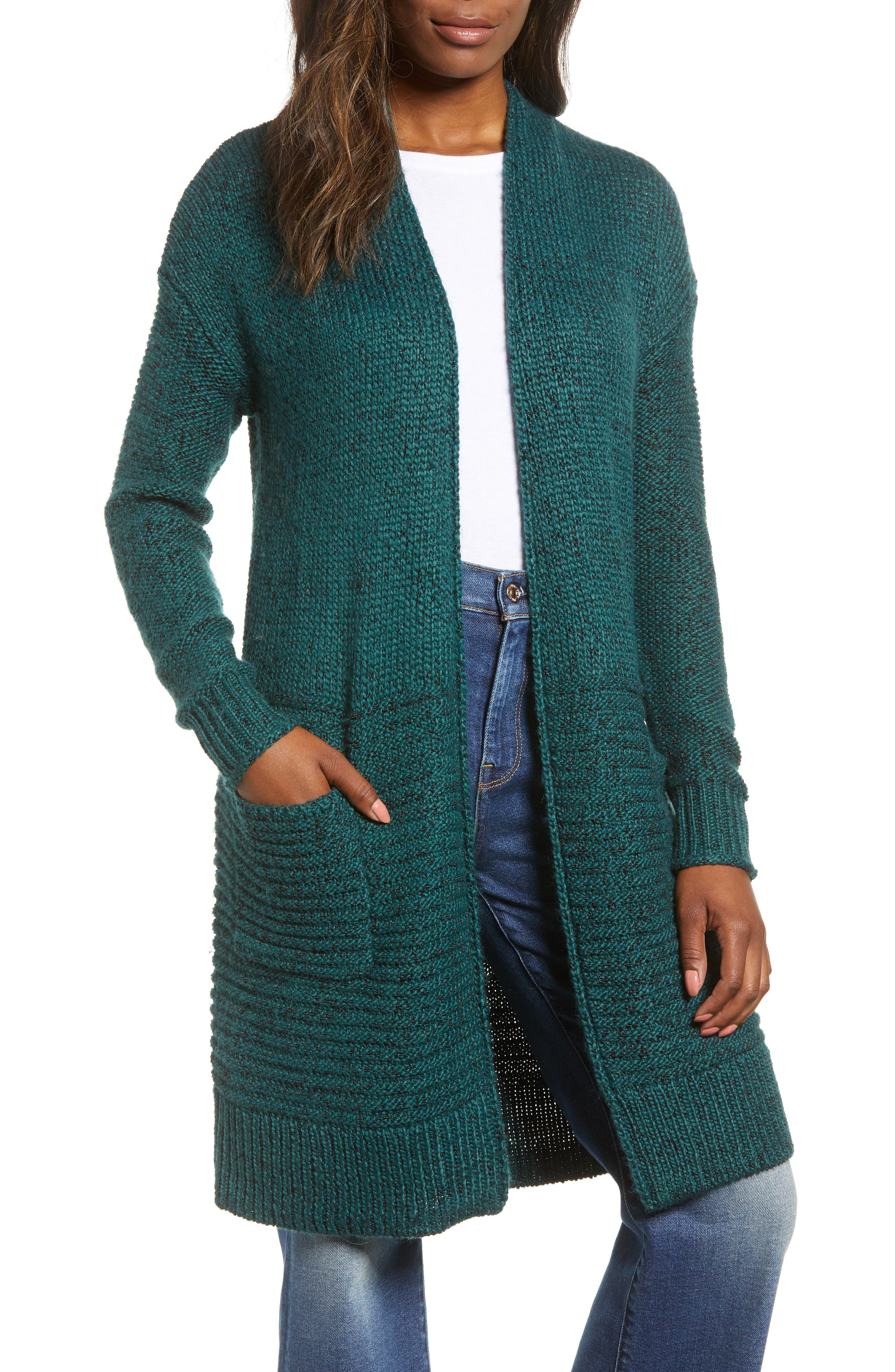 Mixed Stitch Long Cardigan,                         Main,                         color, 301