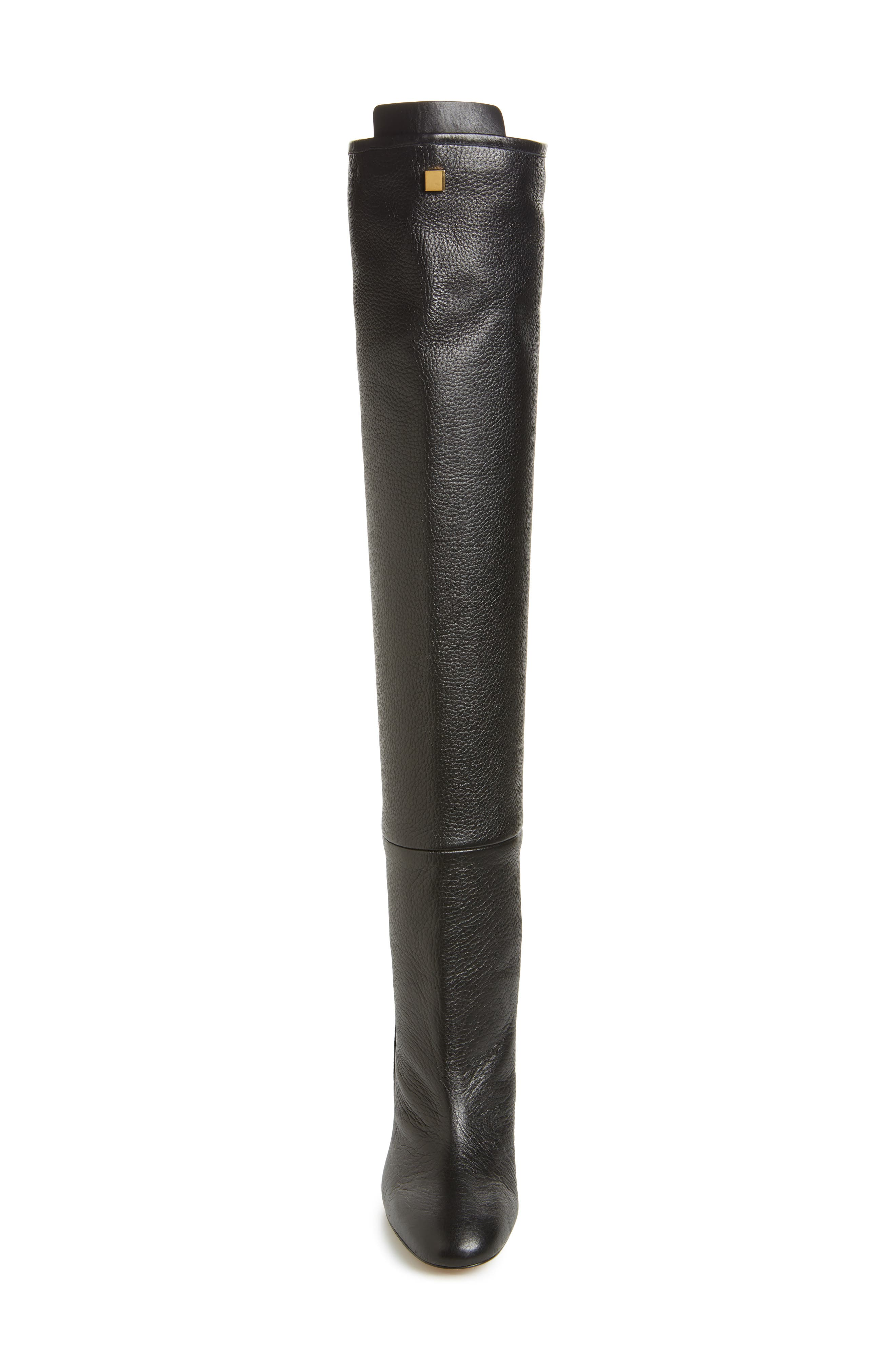 Edie Over the Knee Boot,                             Alternate thumbnail 4, color,                             PITCH BLACK GHENTO